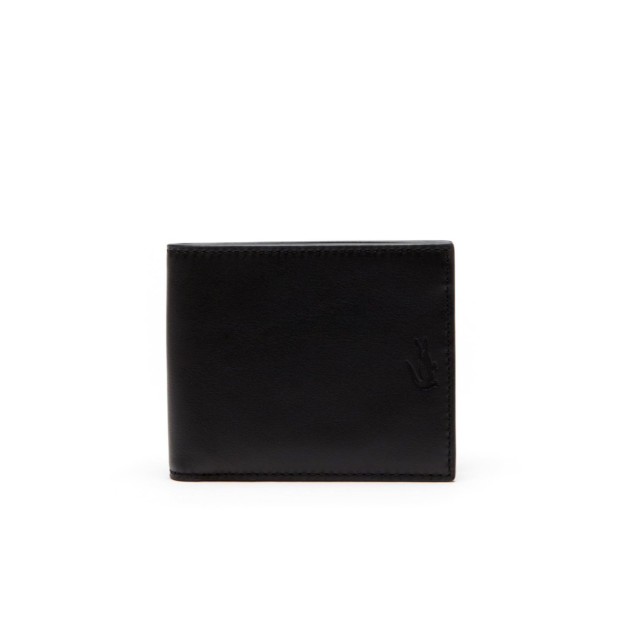 Portefeuille Full Ace en cuir souple uni 6 cartes