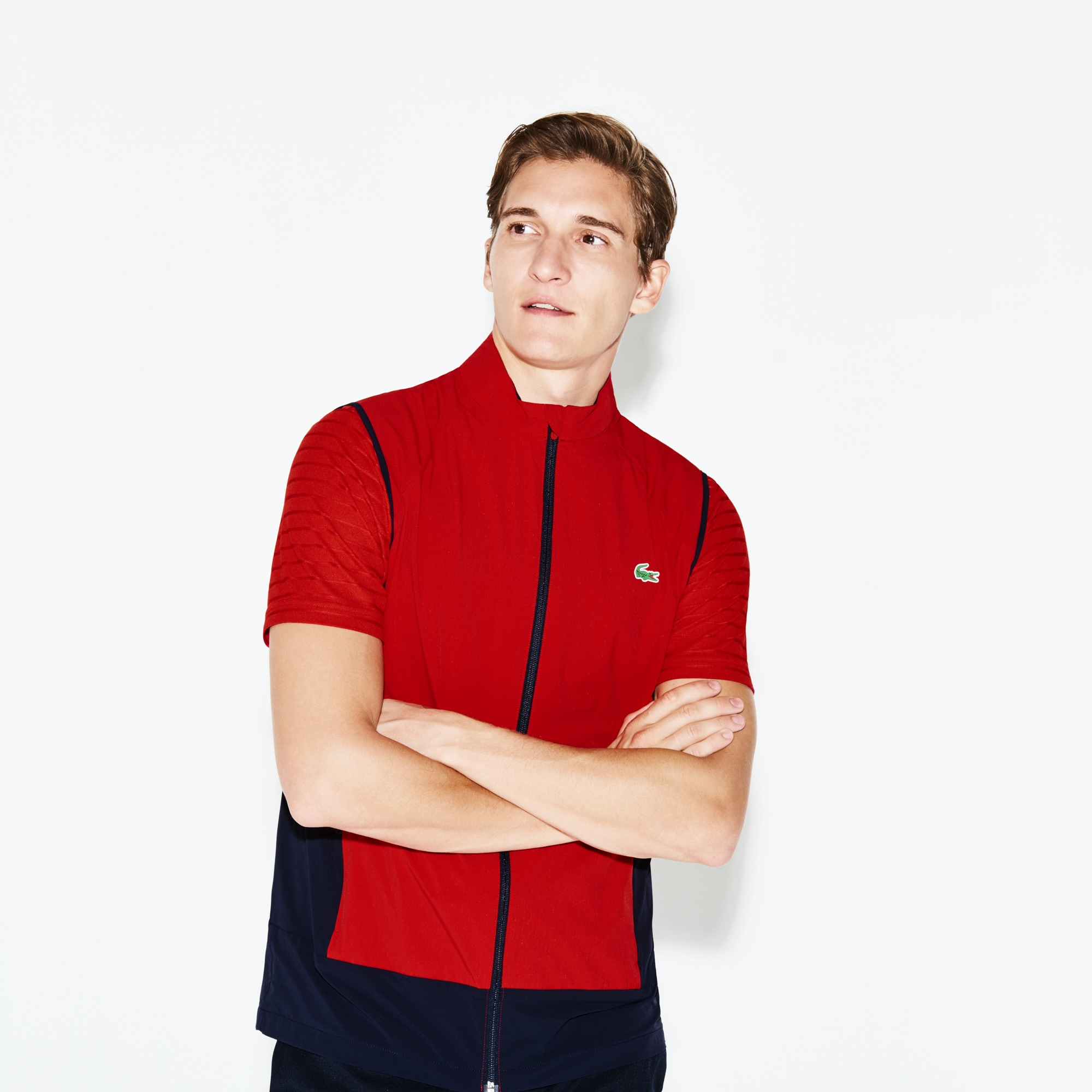 Blouson sans manches Golf Lacoste SPORT en taffetas technique color block