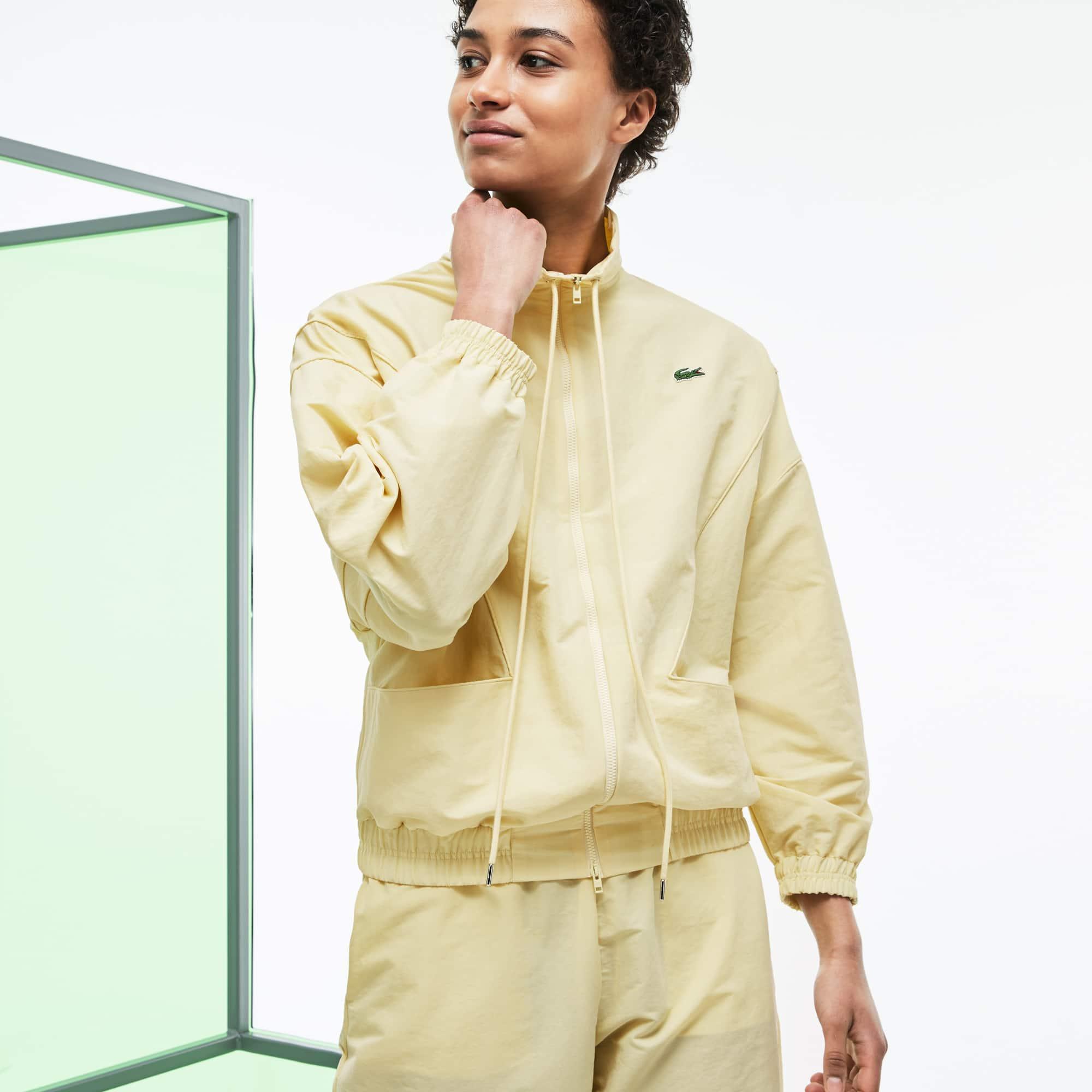 Veste zippée en canvas technique et mesh Édition Défilé