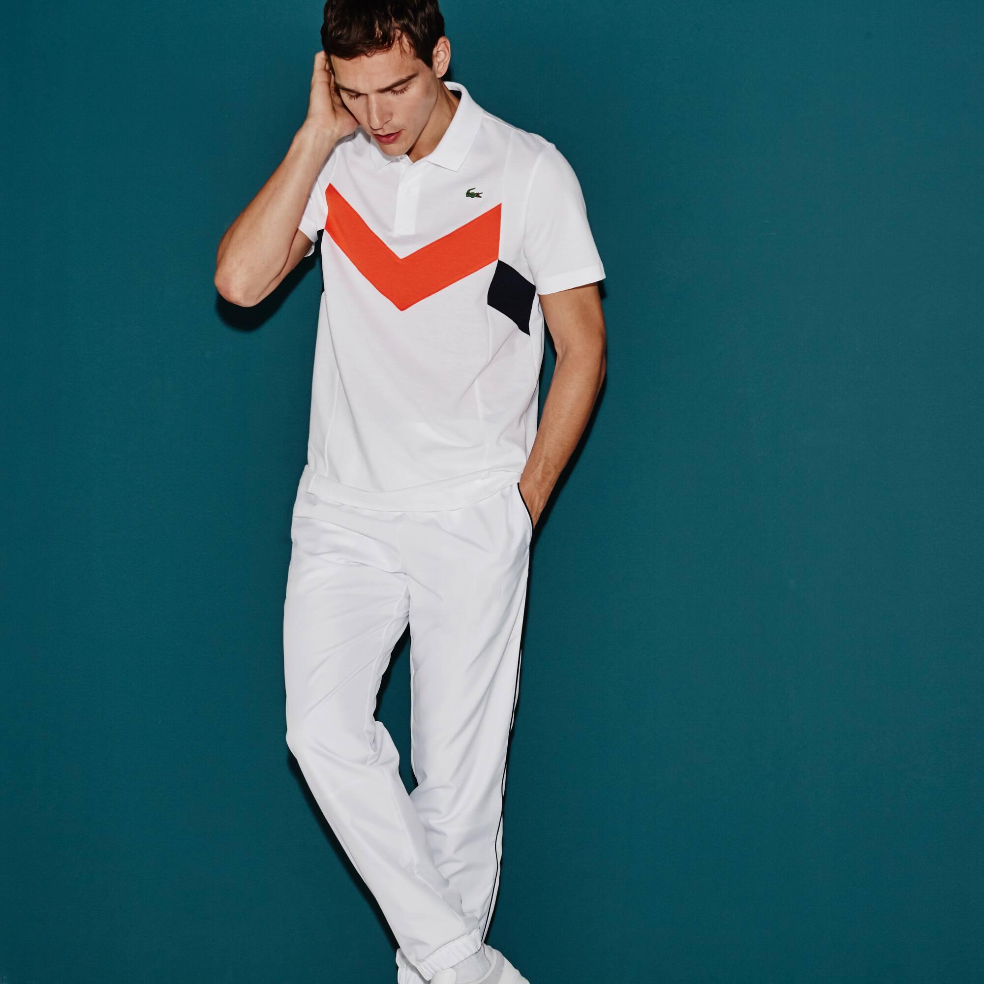 Polo Tennis Lacoste SPORT in maglia ultra leggera color block