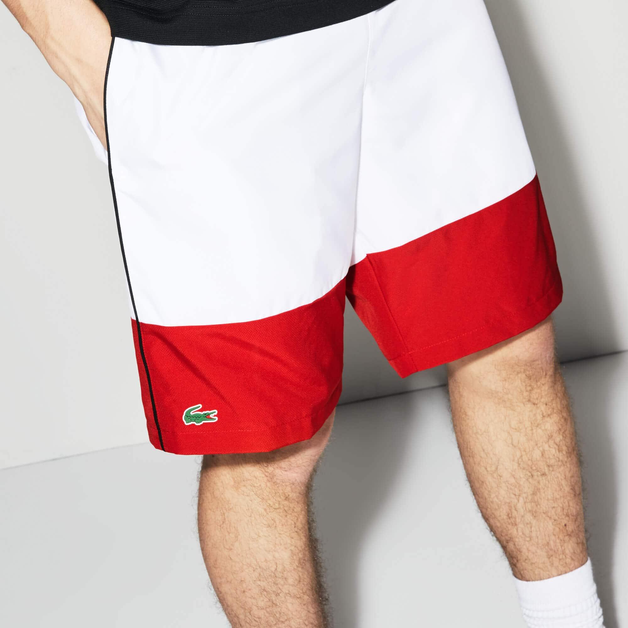 Pantaloncini Lacoste SPORT in taffetà color block