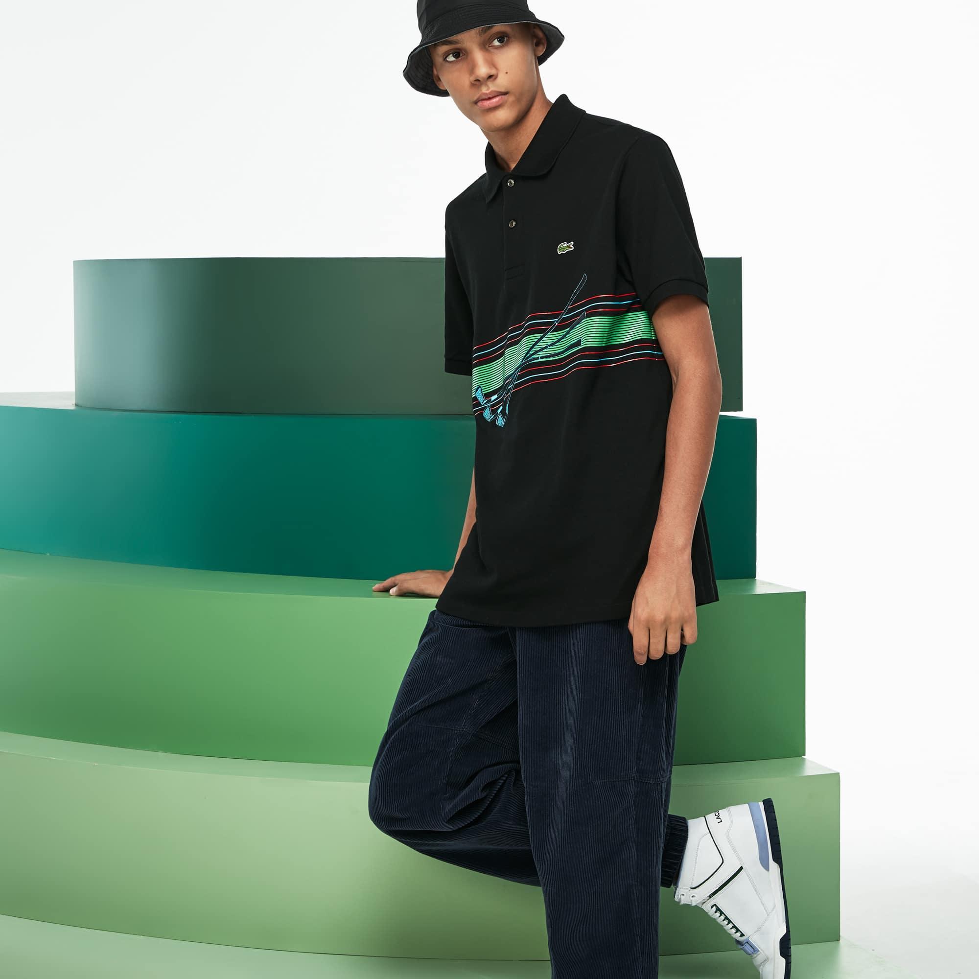 Polo in piqué di cotone con ricamo Lacoste Fashion Show da uomo