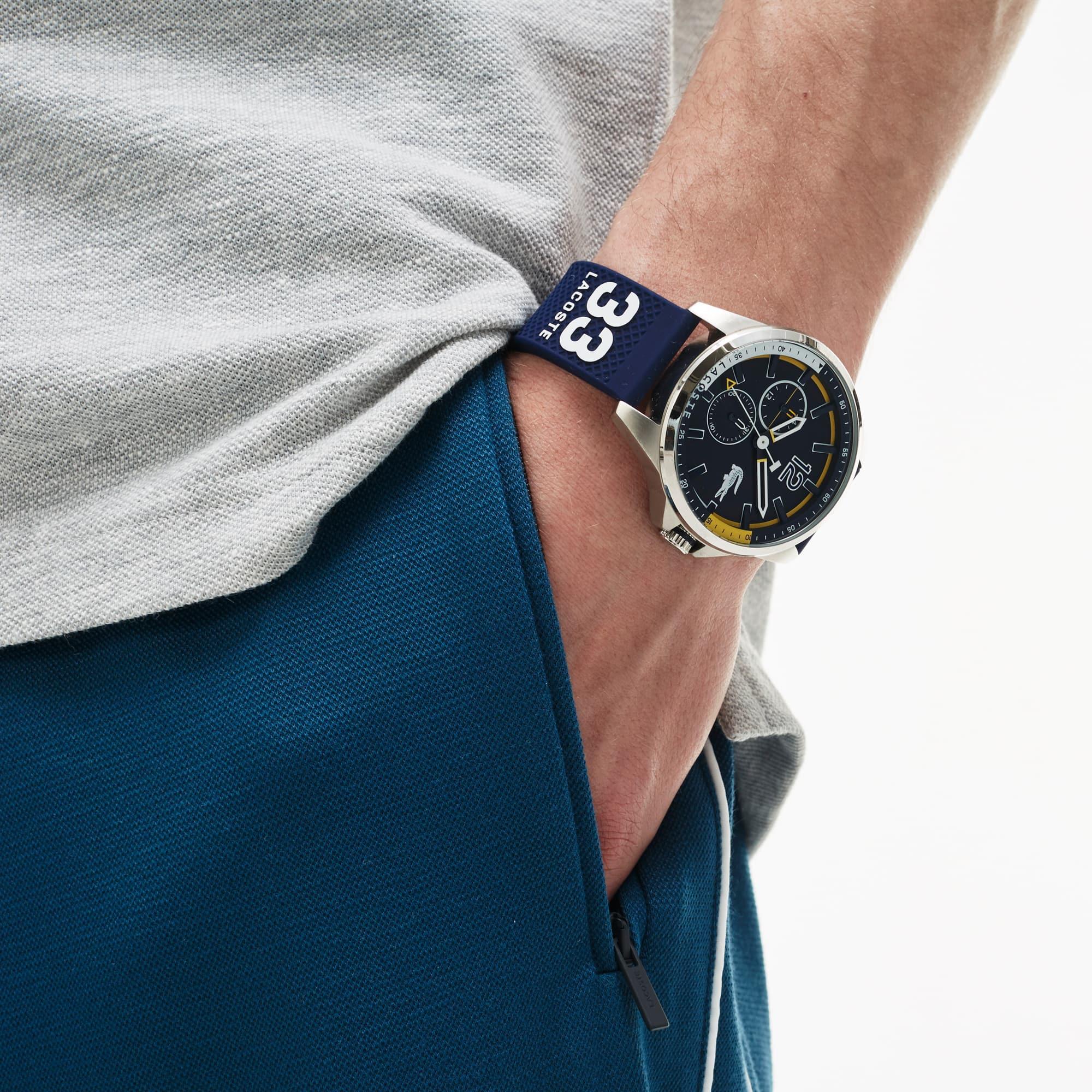 Orologio Capbreton Uomo con Cinturino in Silicone Blu