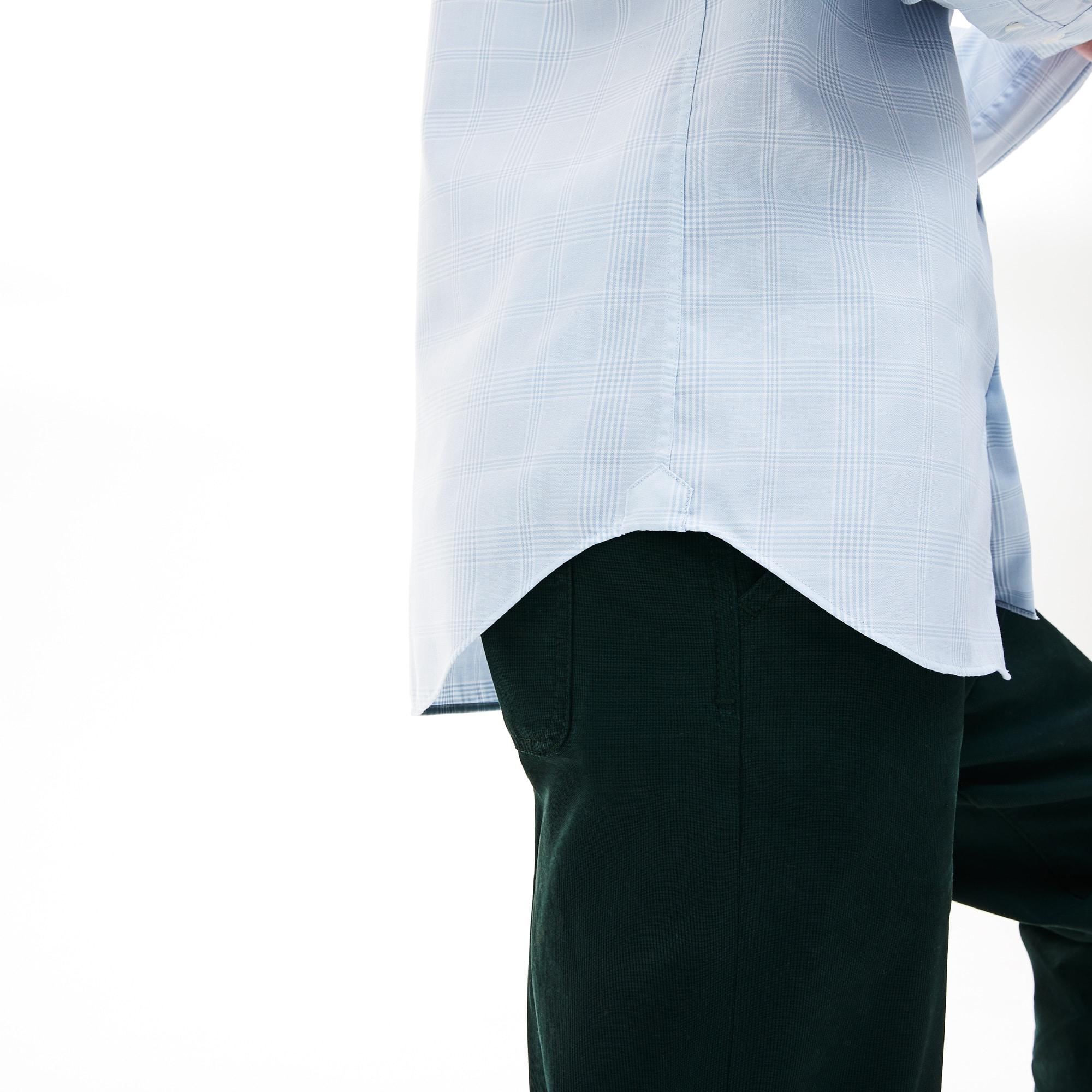 70f8923b2b Camicia da uomo in cotone slim fit con motivo principe di Galles ...