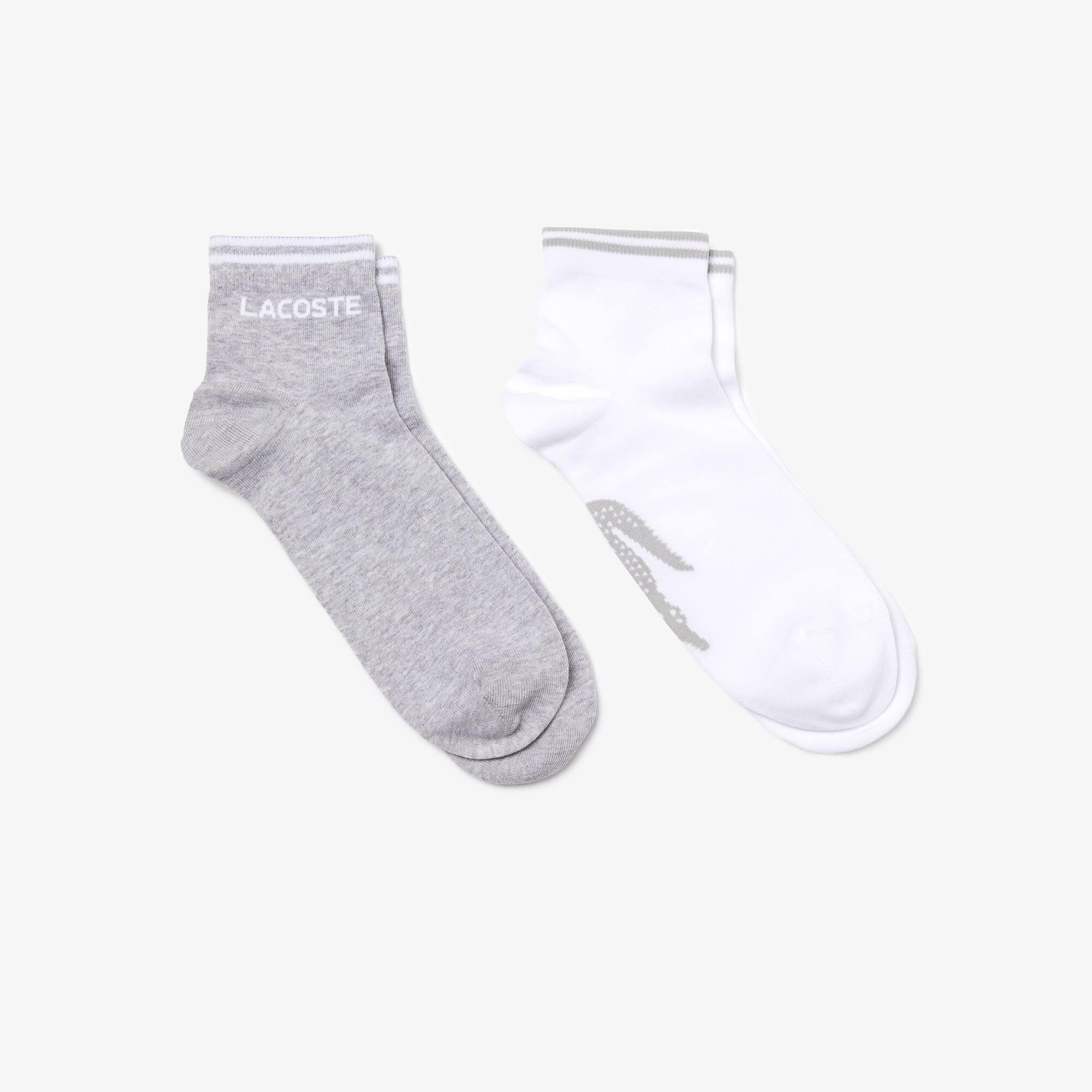 Confezione da due paia di calze Lacoste Tennis basse in jersey jacquard