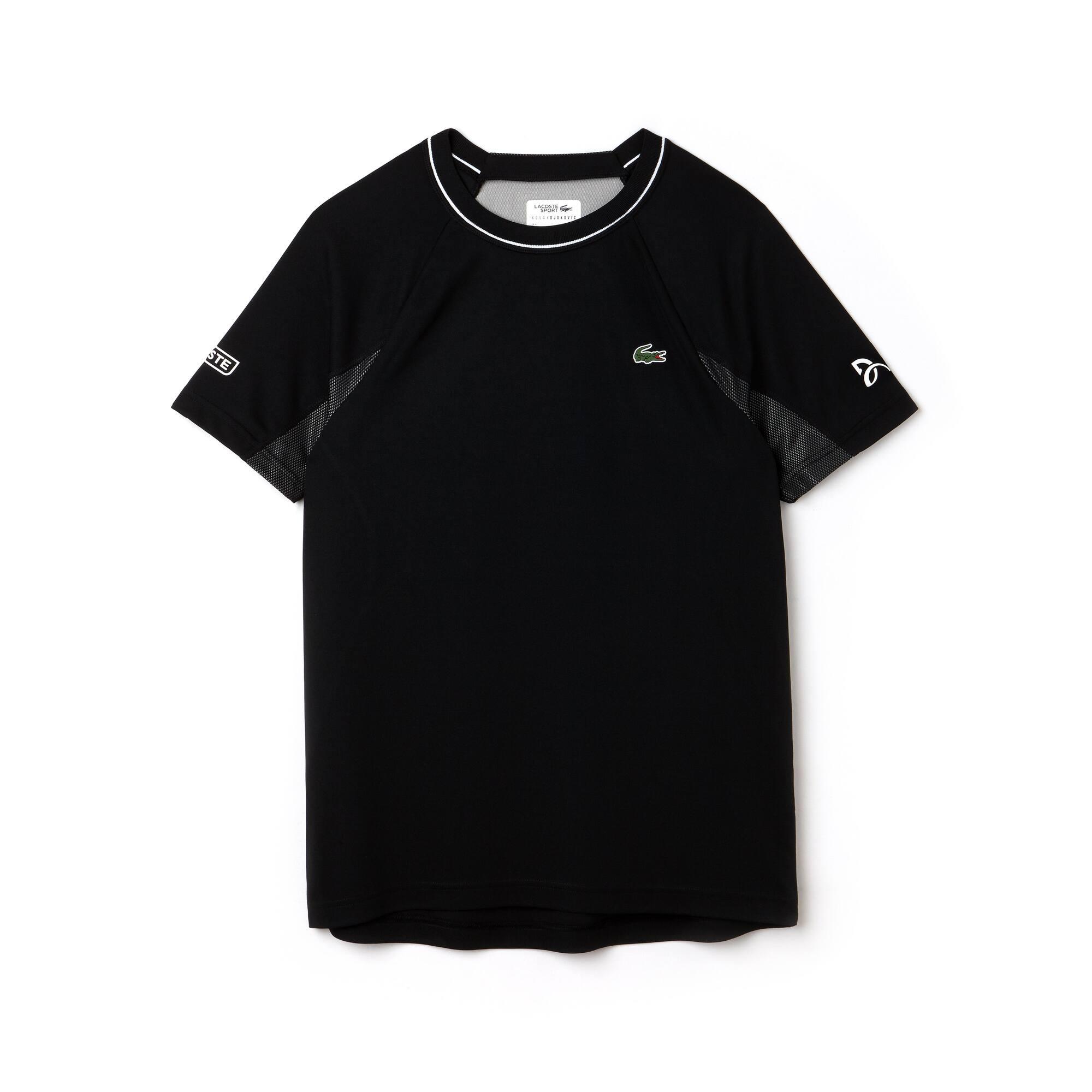 T-shirt girocollo Lacoste SPORT COLLEZIONE NOVAK DJOKOVIC SUPPORT WITH STYLE in piqué tecnico e rete