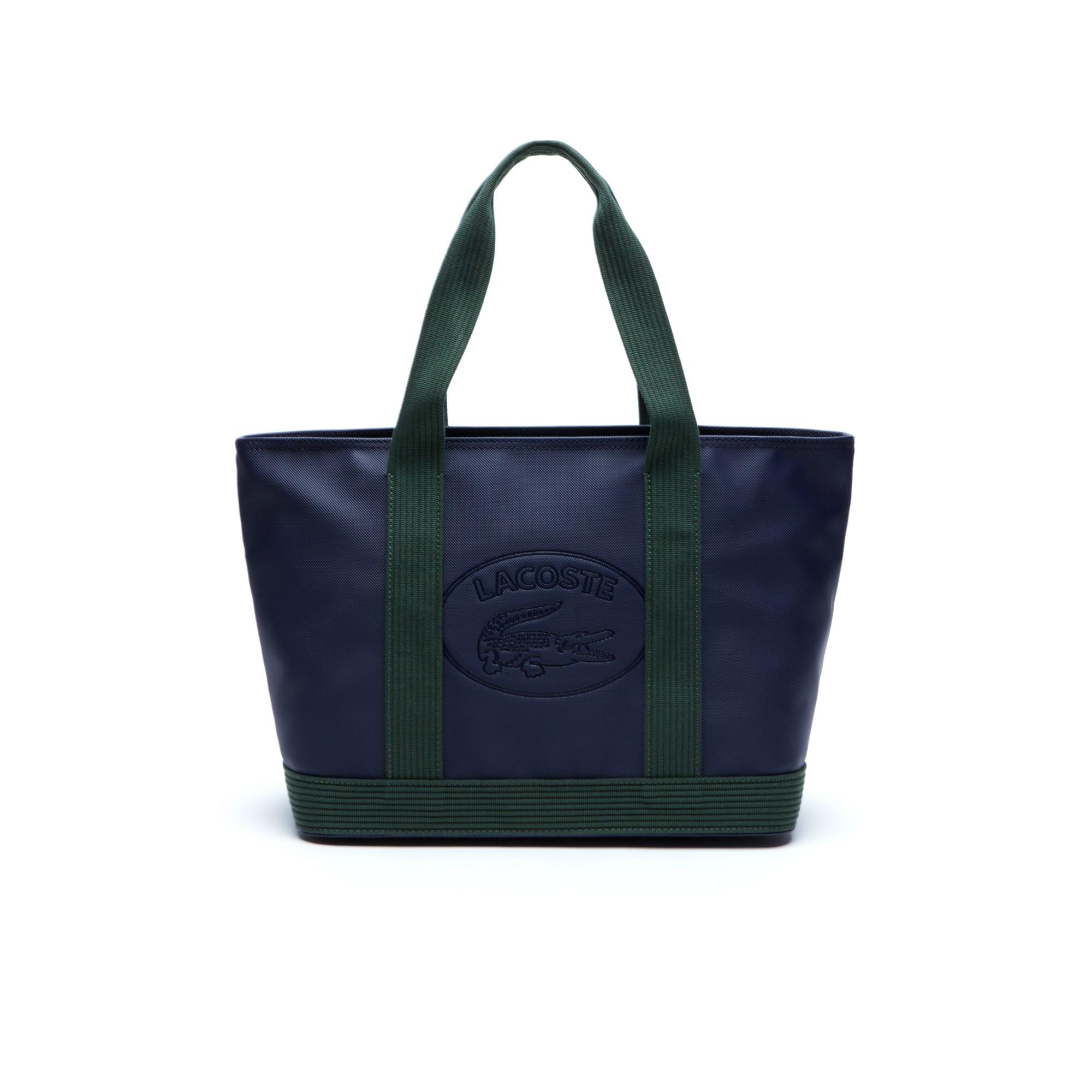Shopping bag con zip Women's Classic in tela spalmata a piqué
