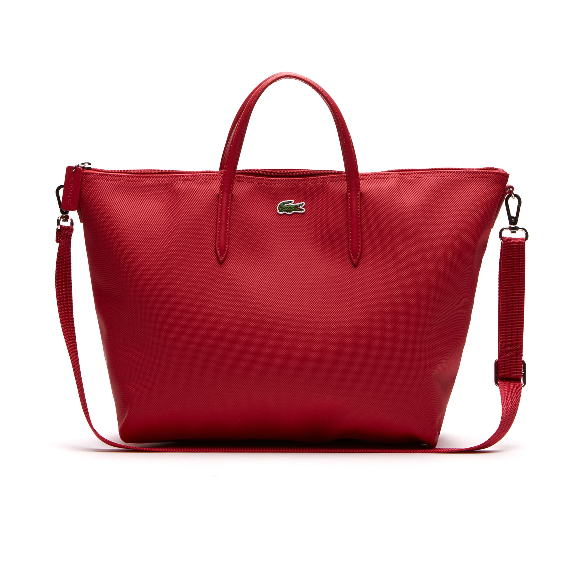 Shopping bag con zip a doppia modalità d'uso L.12.12 Concept tinta unita