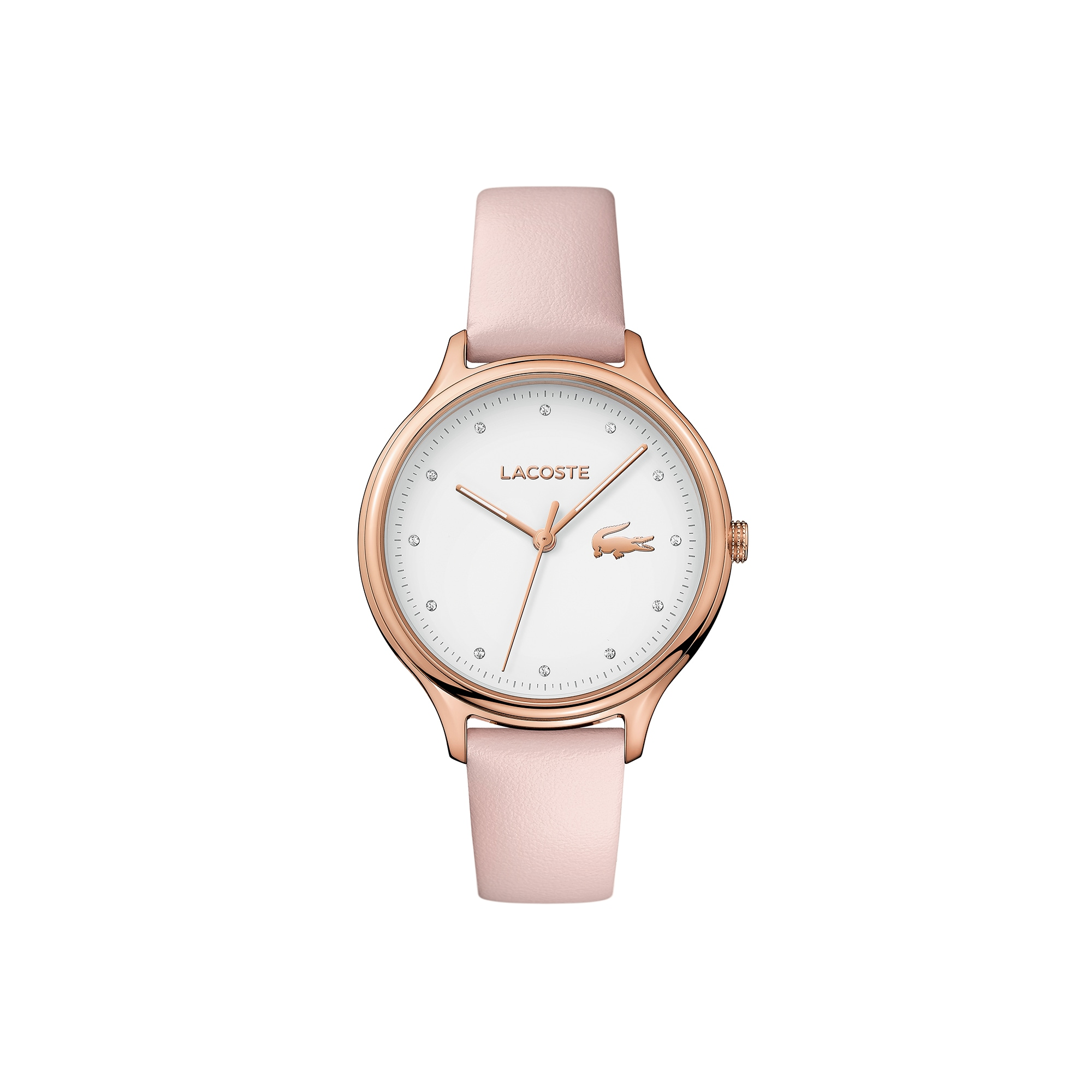 Ladies Constance Watch with Pink Leather Strap
