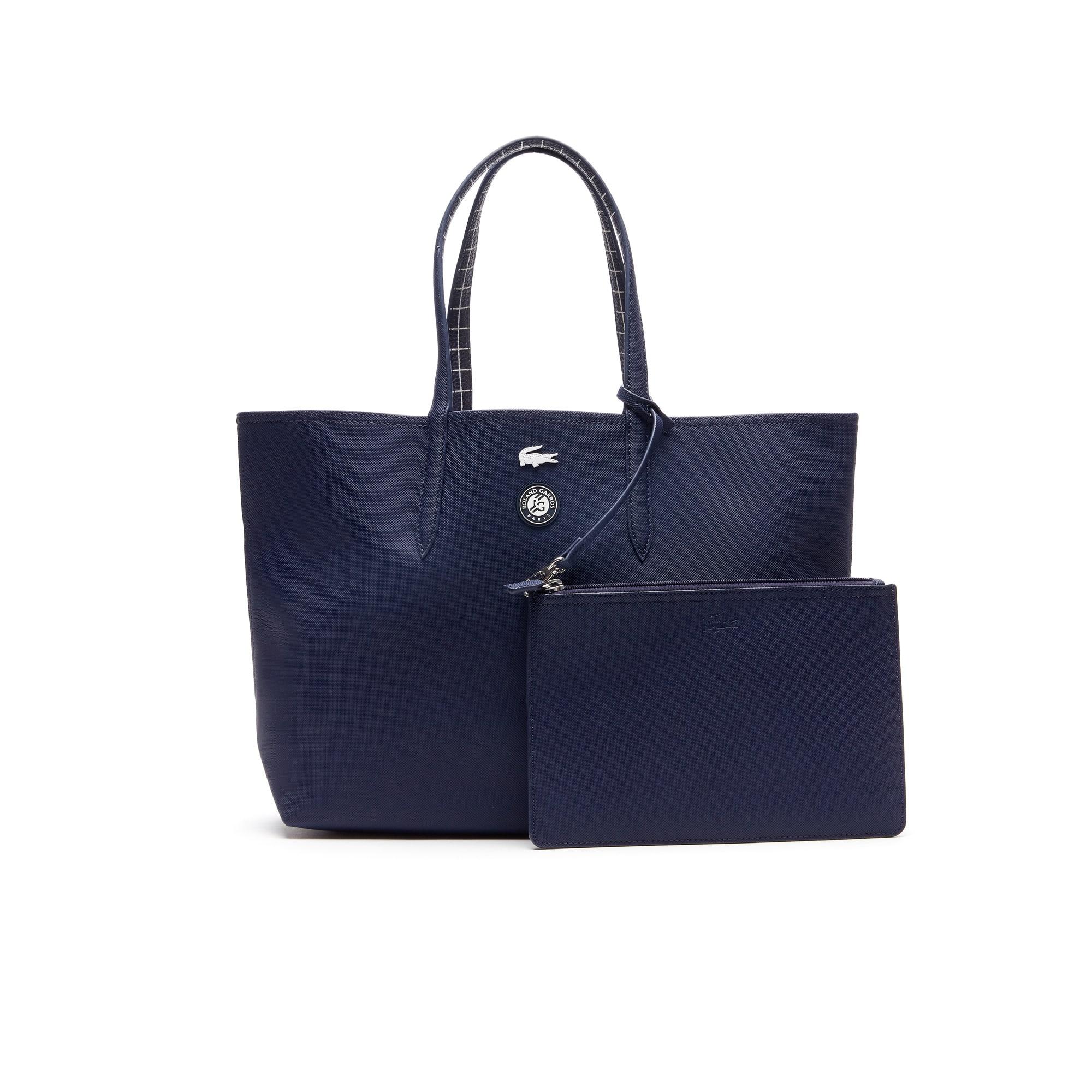 Shopping bag Lacoste SPORT Roland Garros reversibile bicolore