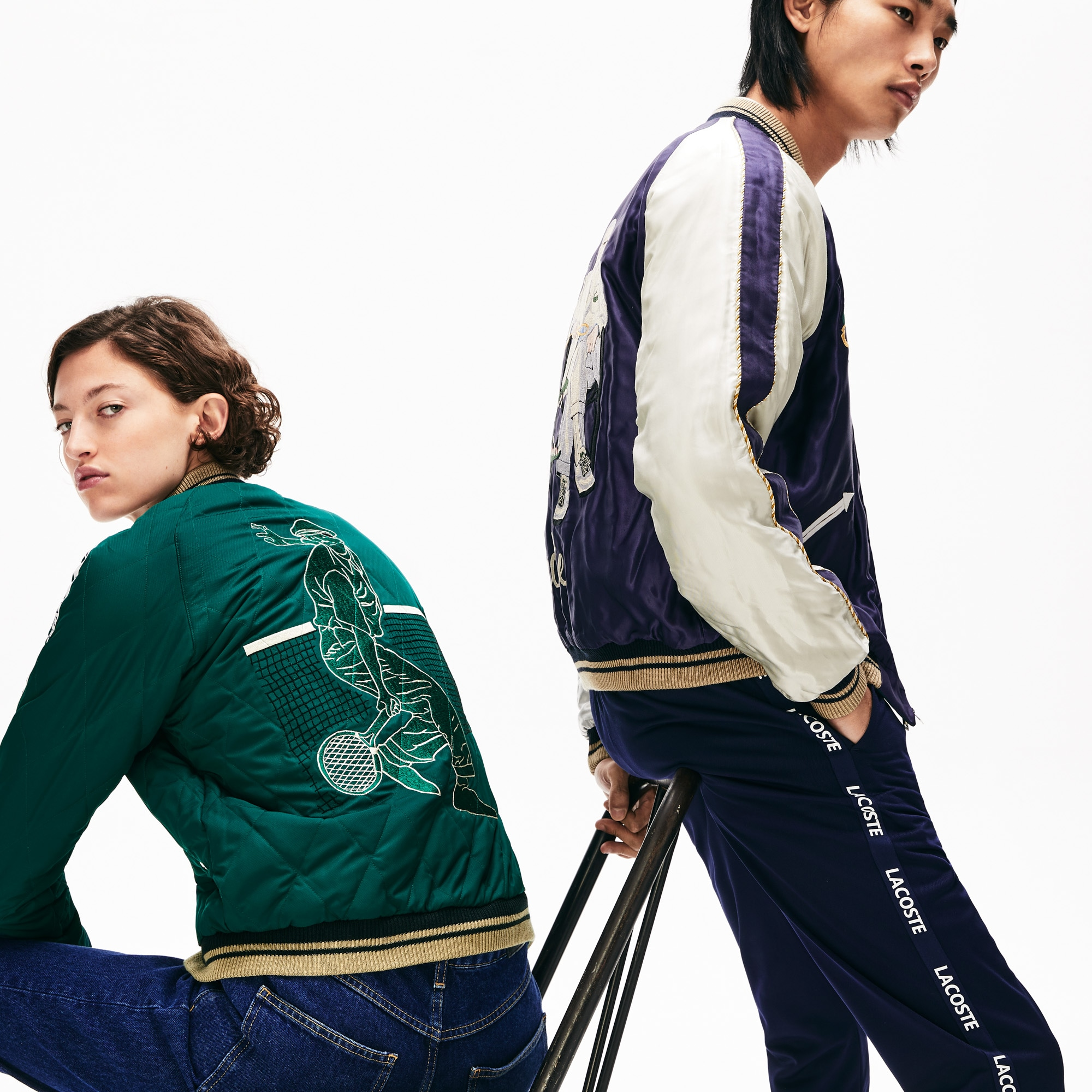 Bomber unisex double face Lacoste x Tailor Toyo