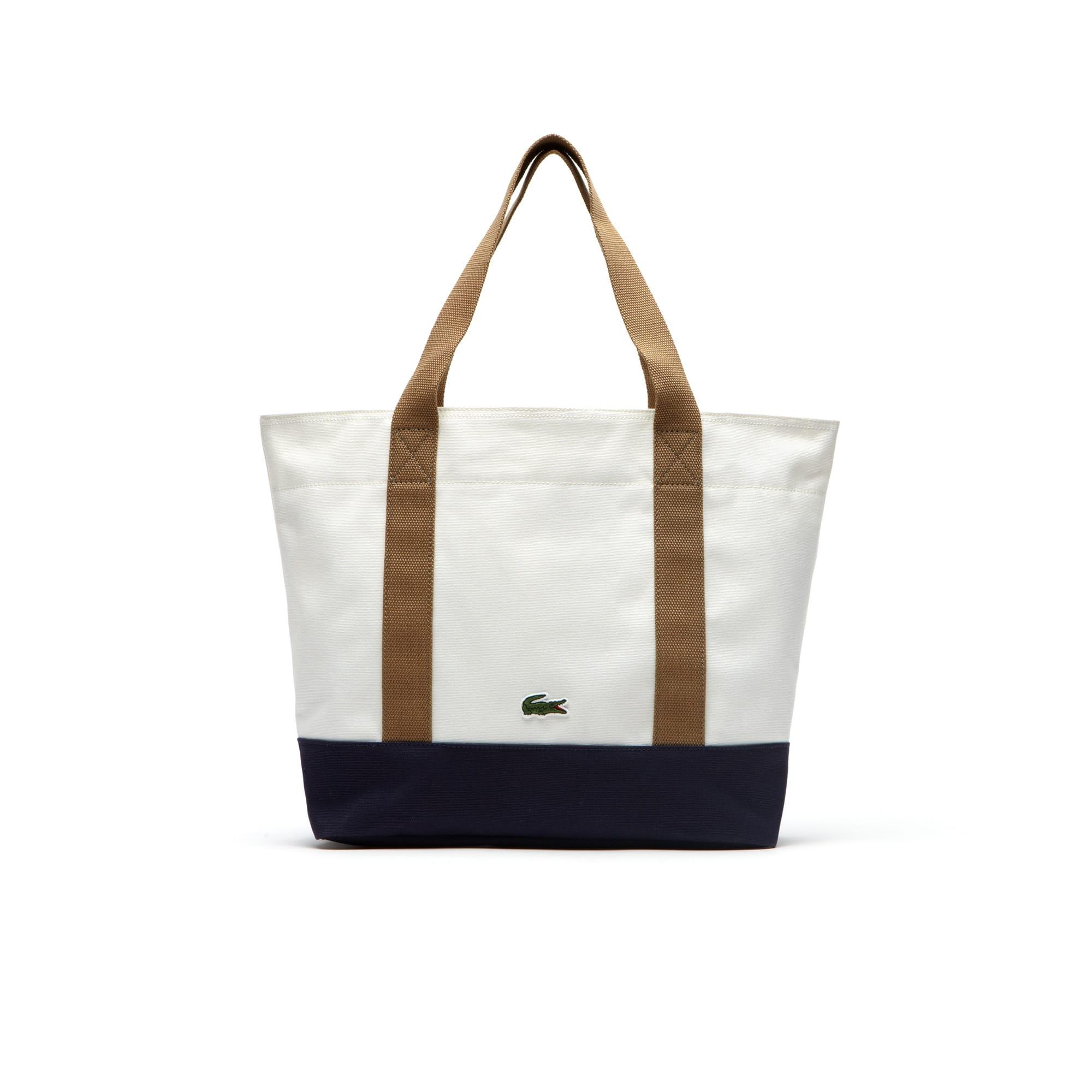 Summer zippered tote bag in cotton - medium format
