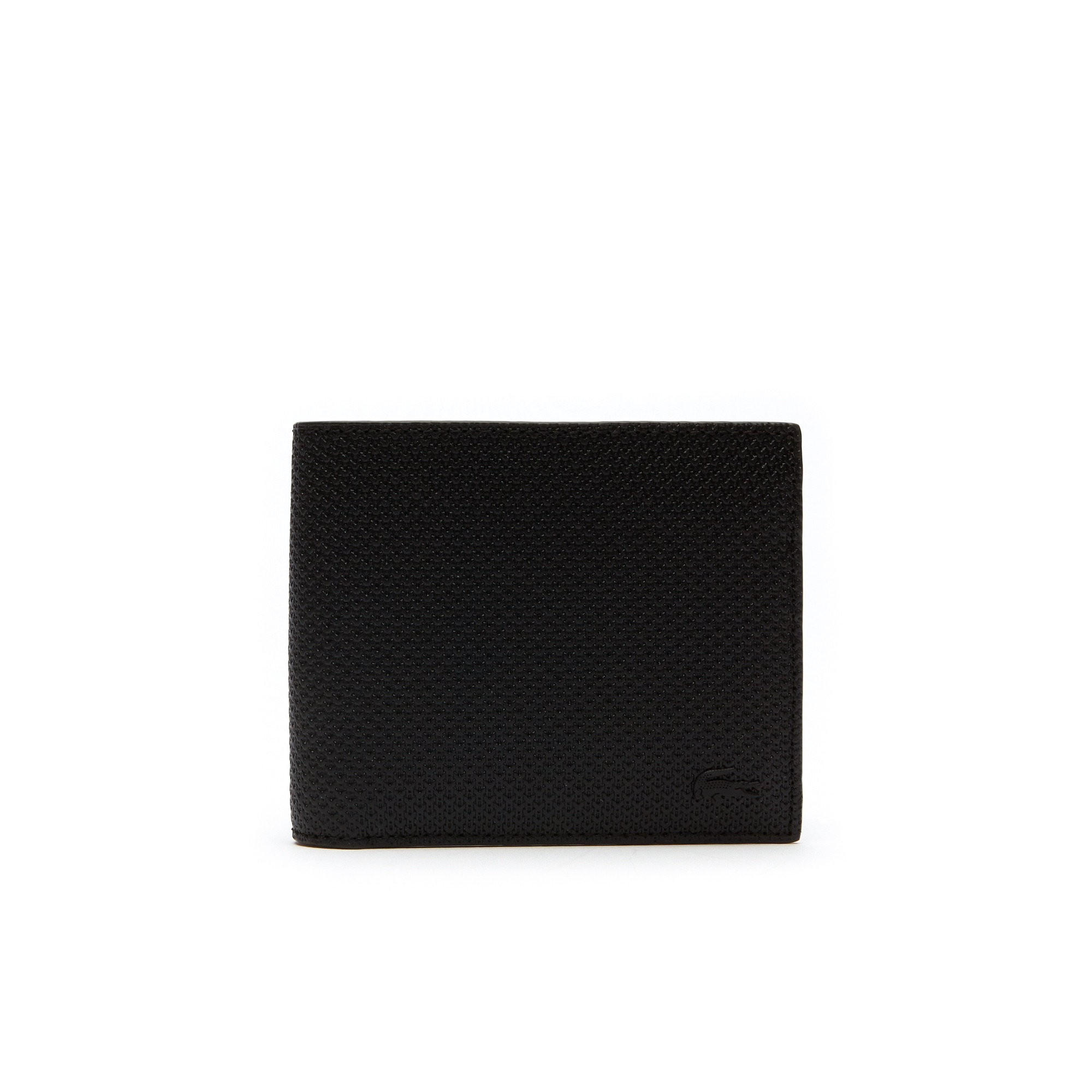 Set di portafoglio in pelle piqué opaca e porta carte abbinato Chantaco da uomo