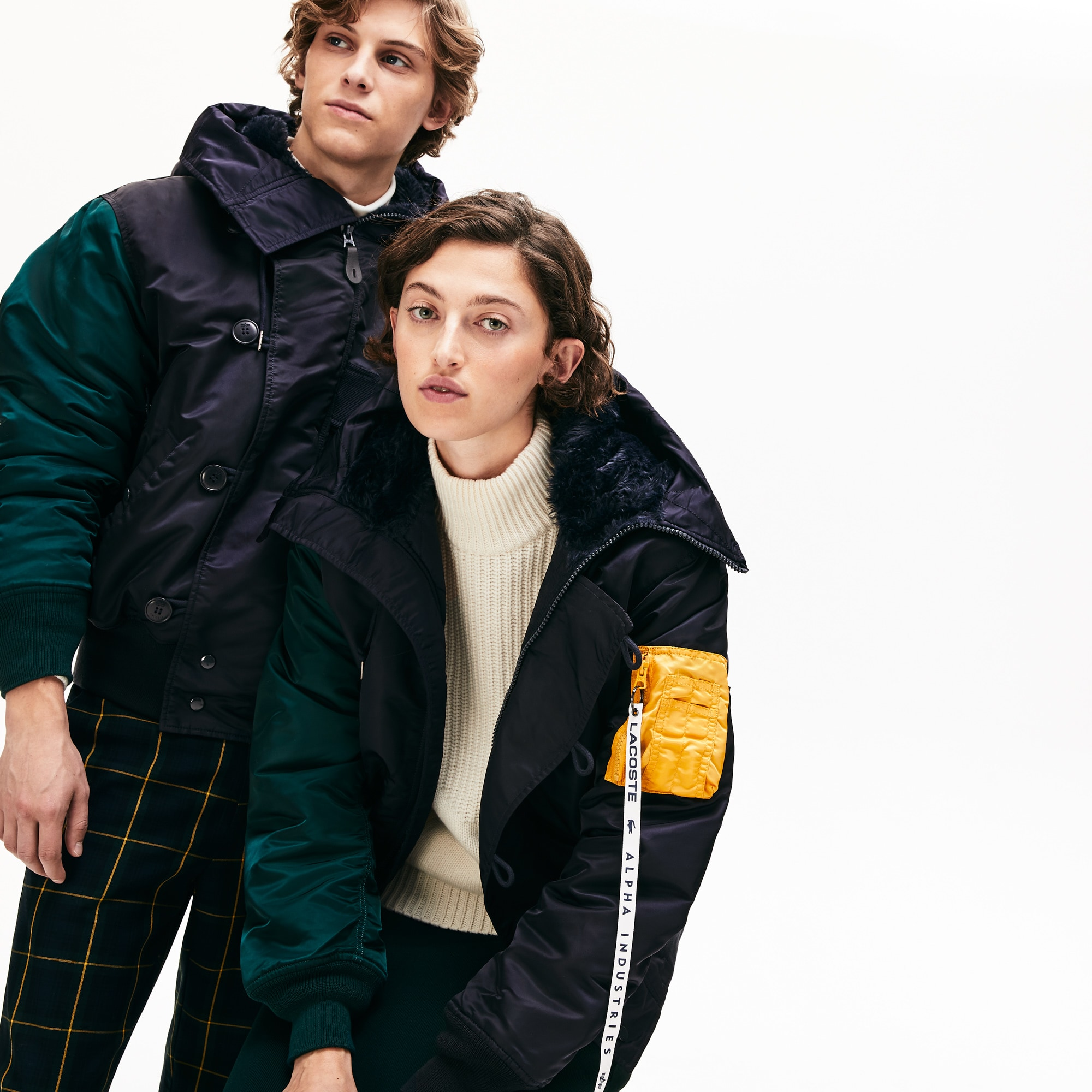 Bomber unisex con motivo color block Lacoste x Alpha Industries