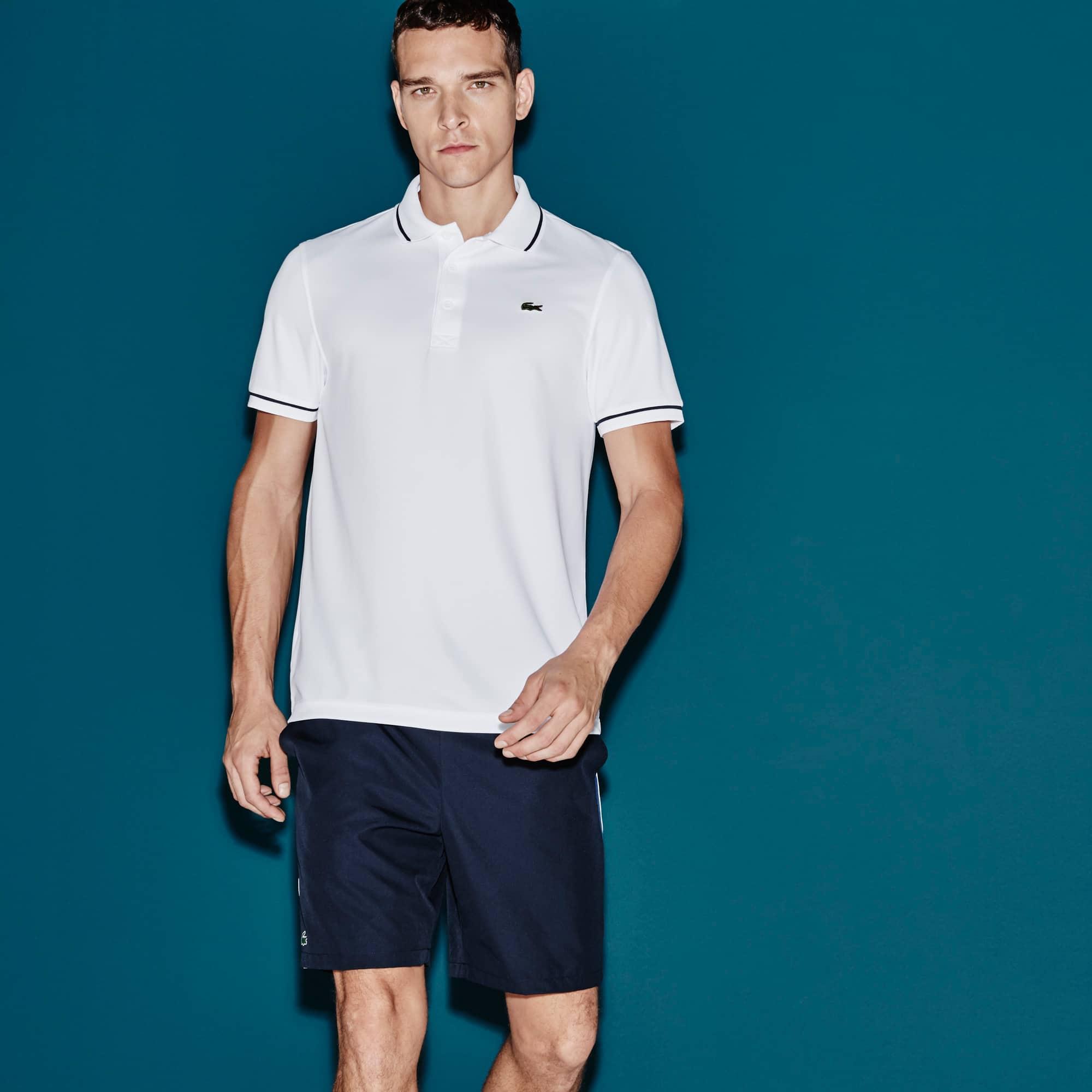 Polo Tennis Lacoste SPORT in piqué tecnico tinta unita con bordino