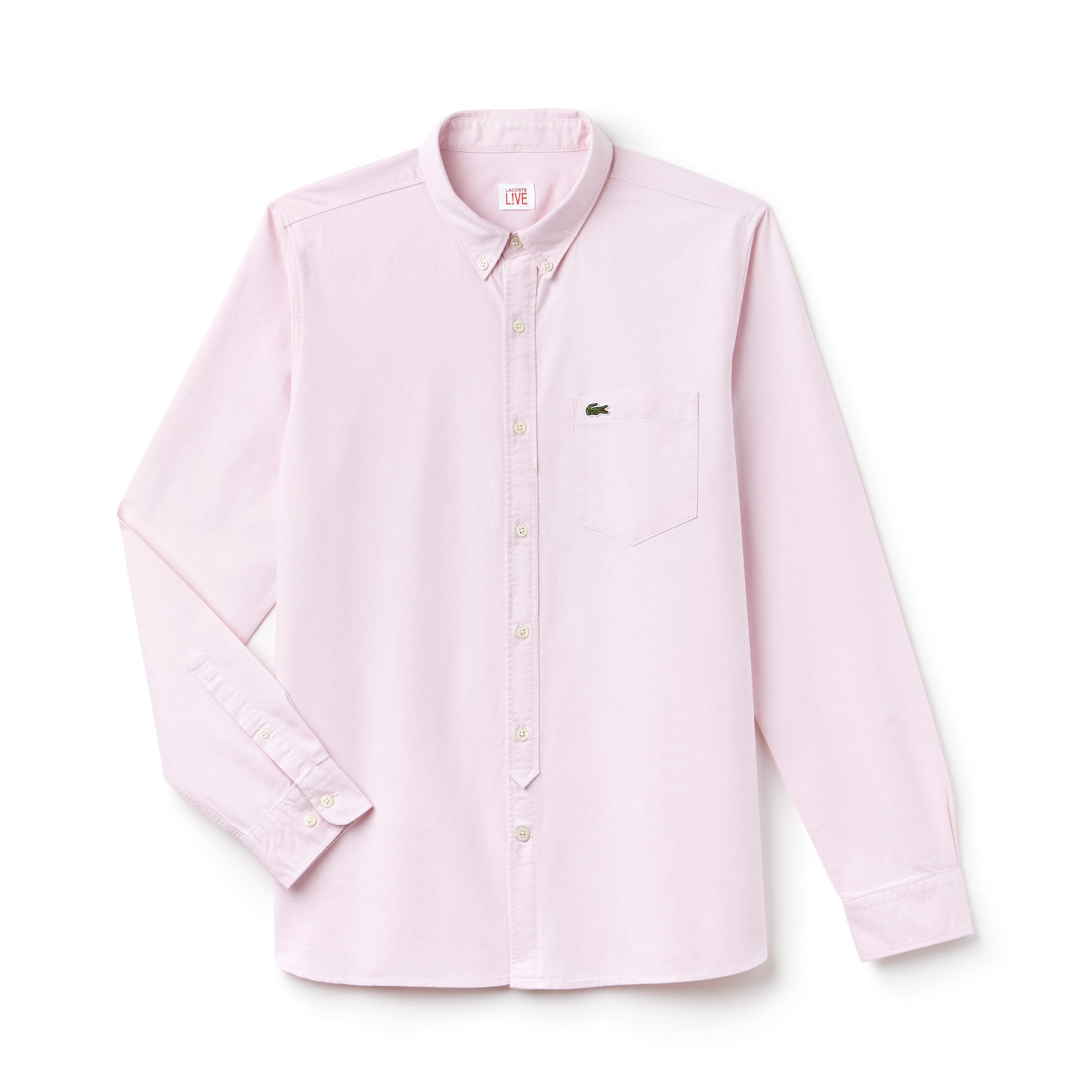 Camicia slim fit Lacoste LIVE in cotone Oxford tinta unita