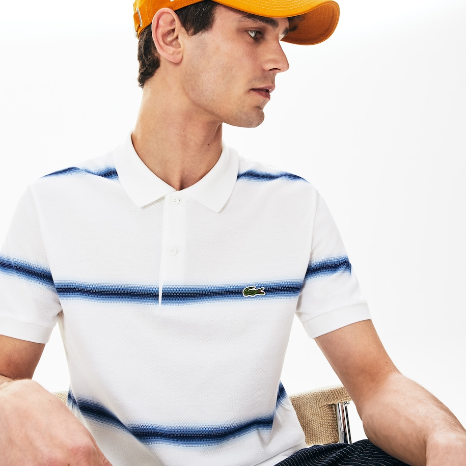 Polo da uomo in piqué di cotone regular fit Lacoste Made in France