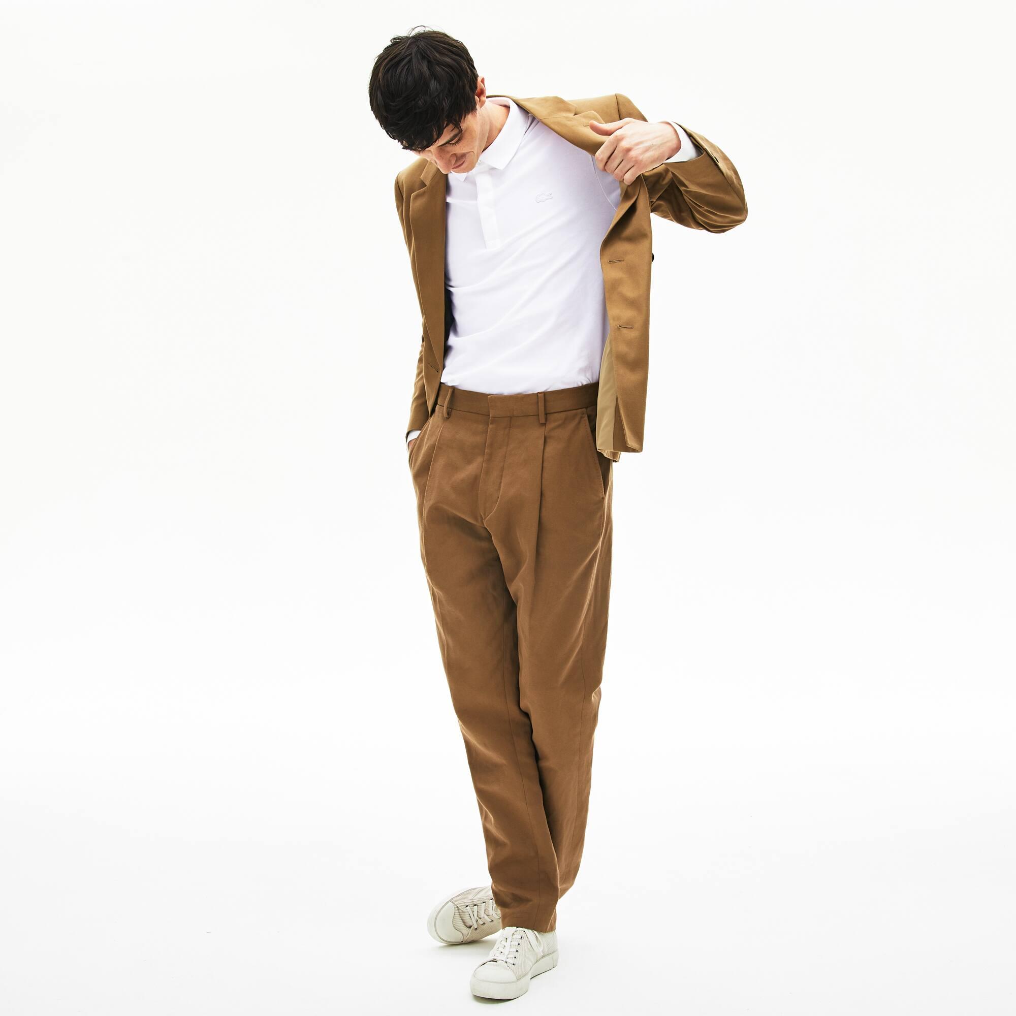 Polo Paris Regular Fit Lacoste a maniche lunghe in piqué di cotone stretch