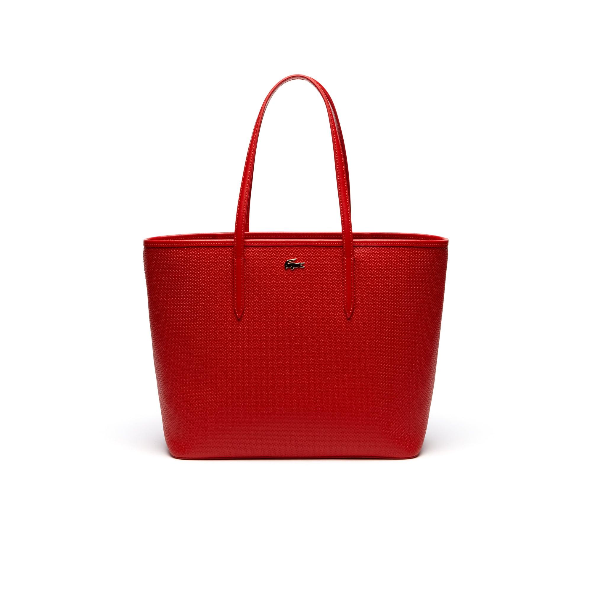 Shopping bag Chantaco in pelle con motivo a piqué