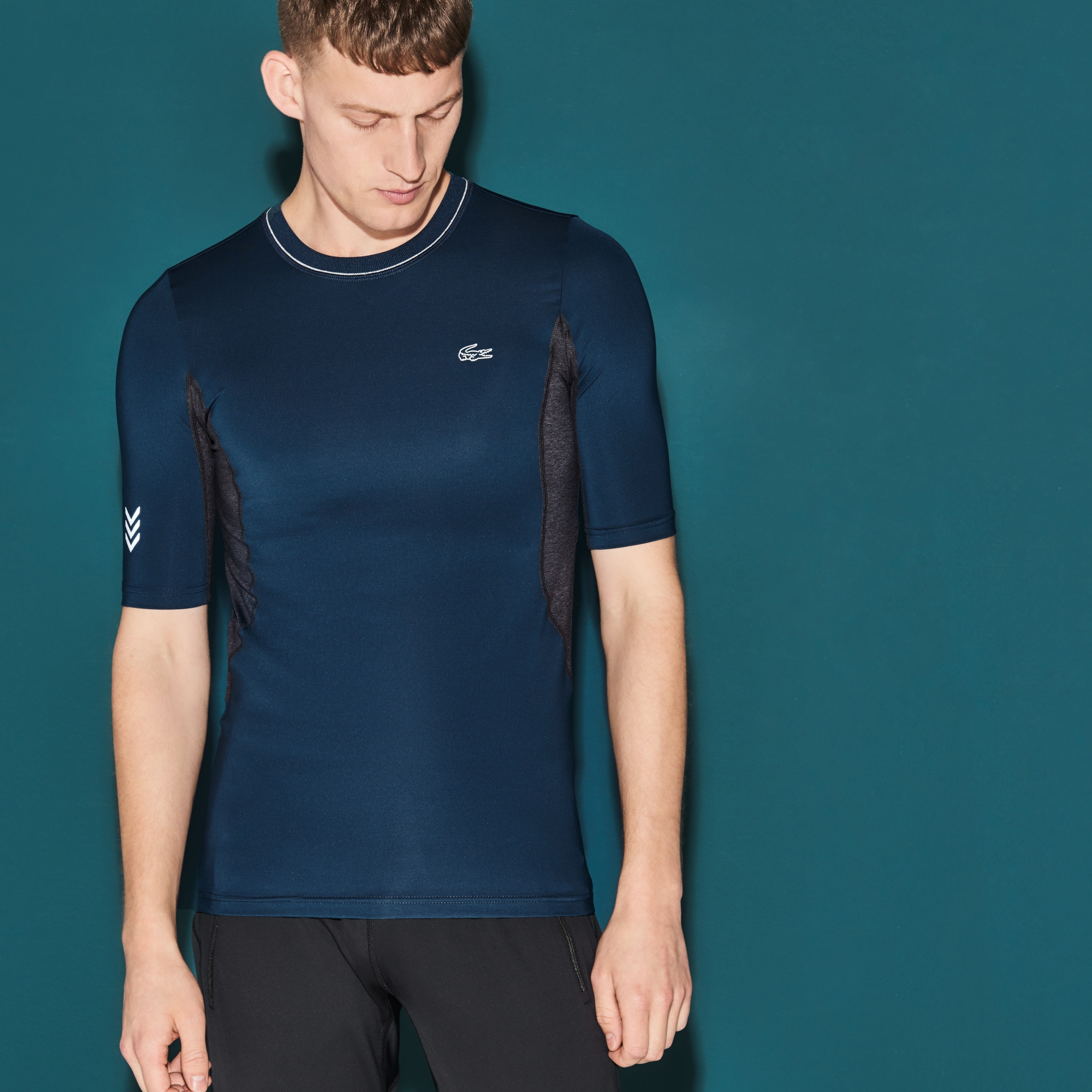 T-shirt a compressione Tennis Lacoste SPORT in jersey tecnico
