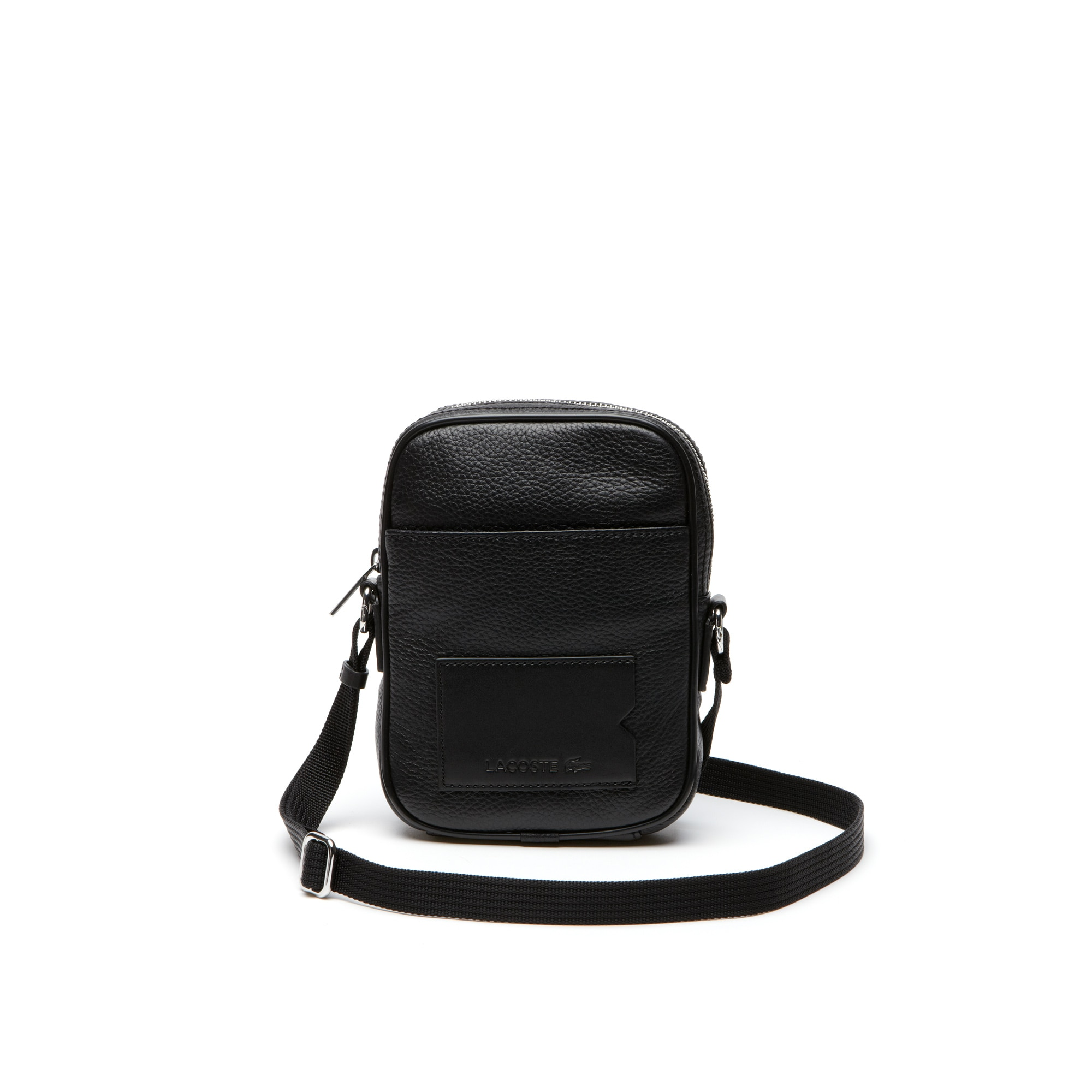 Men's Classic Premium shoulder bag in monochrome leather