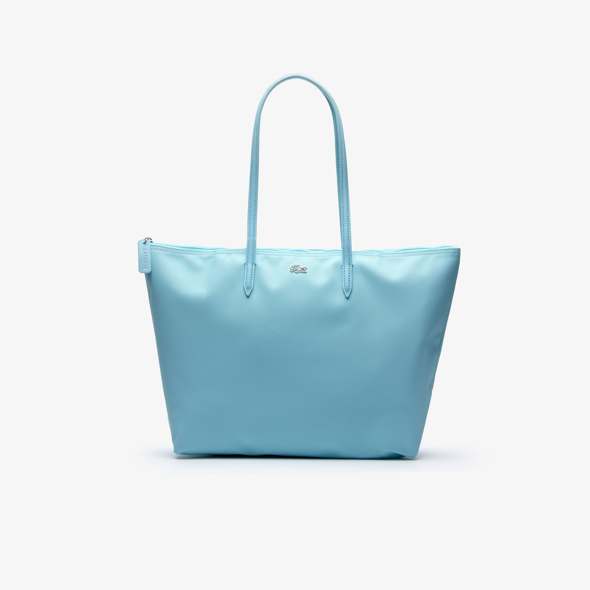 Shopping bag con zip L.12.12 Concept tinta unita