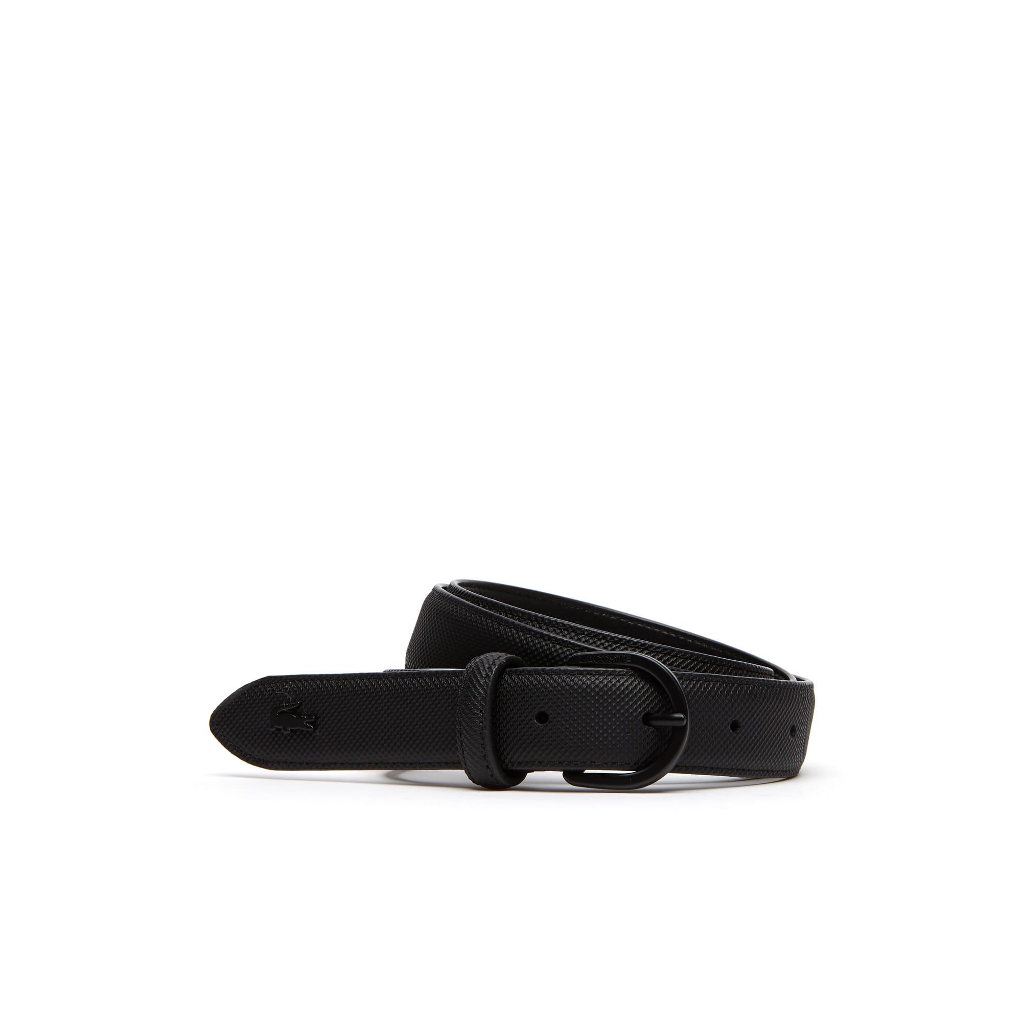 Cintura L.12.12 Concept in petit piqué monocromo con fibbia ad ardiglione