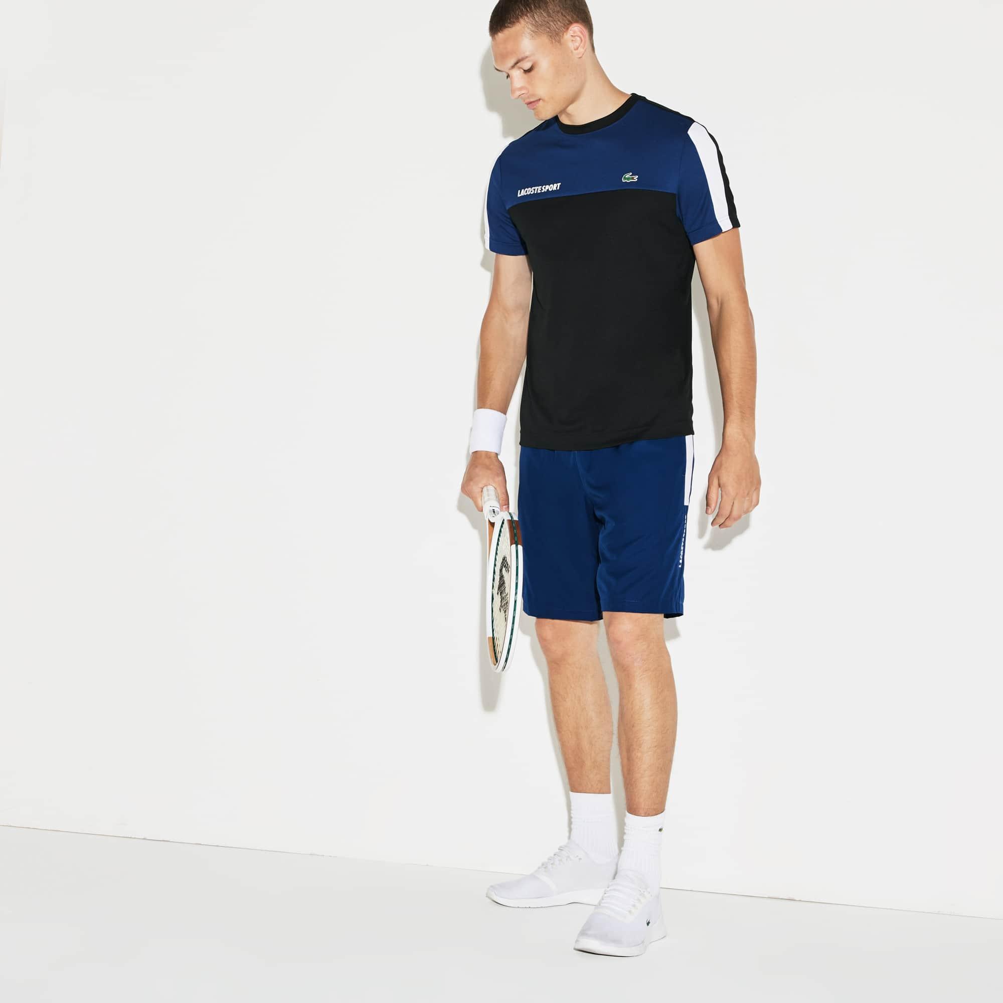 Pantaloncini Tennis Lacoste SPORT in taffetà con fasce colorate