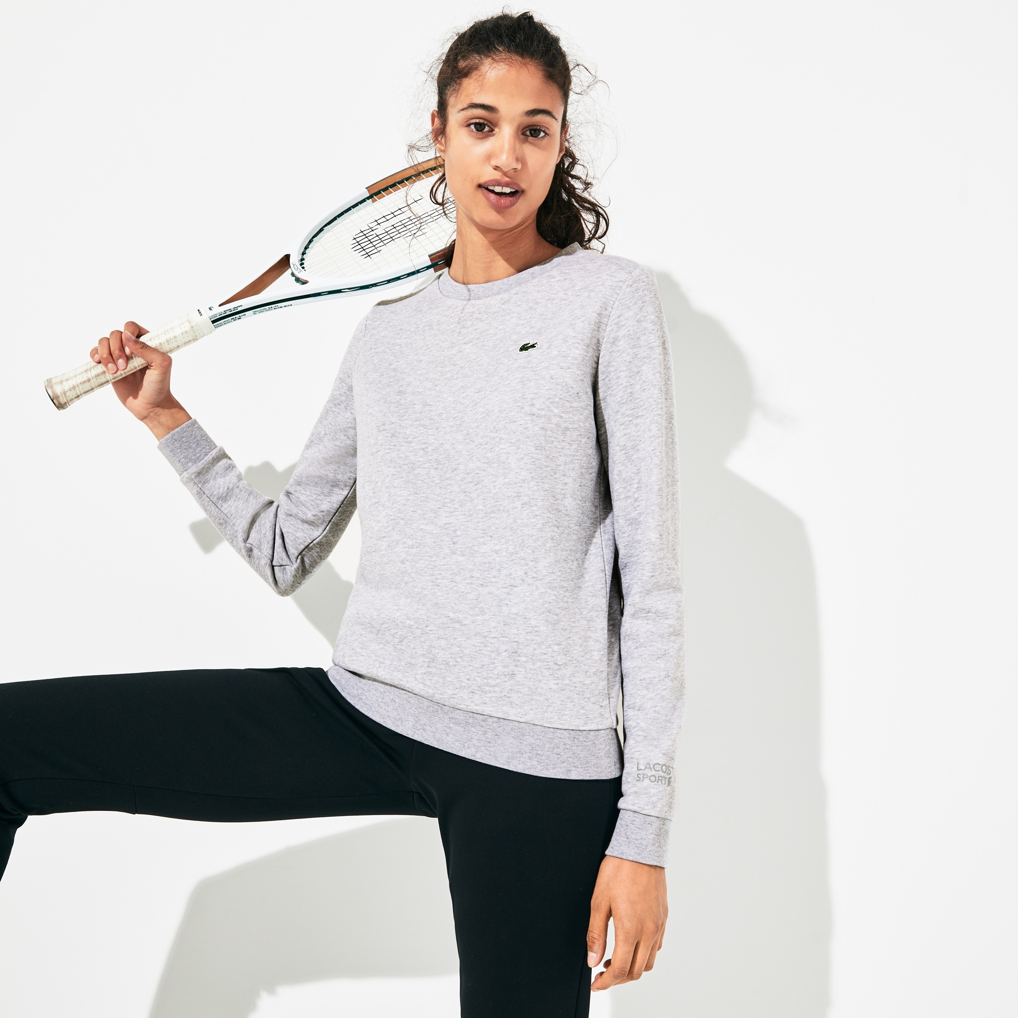 Felpa Tennis Lacoste SPORT in mollettone di cotone tinta unita