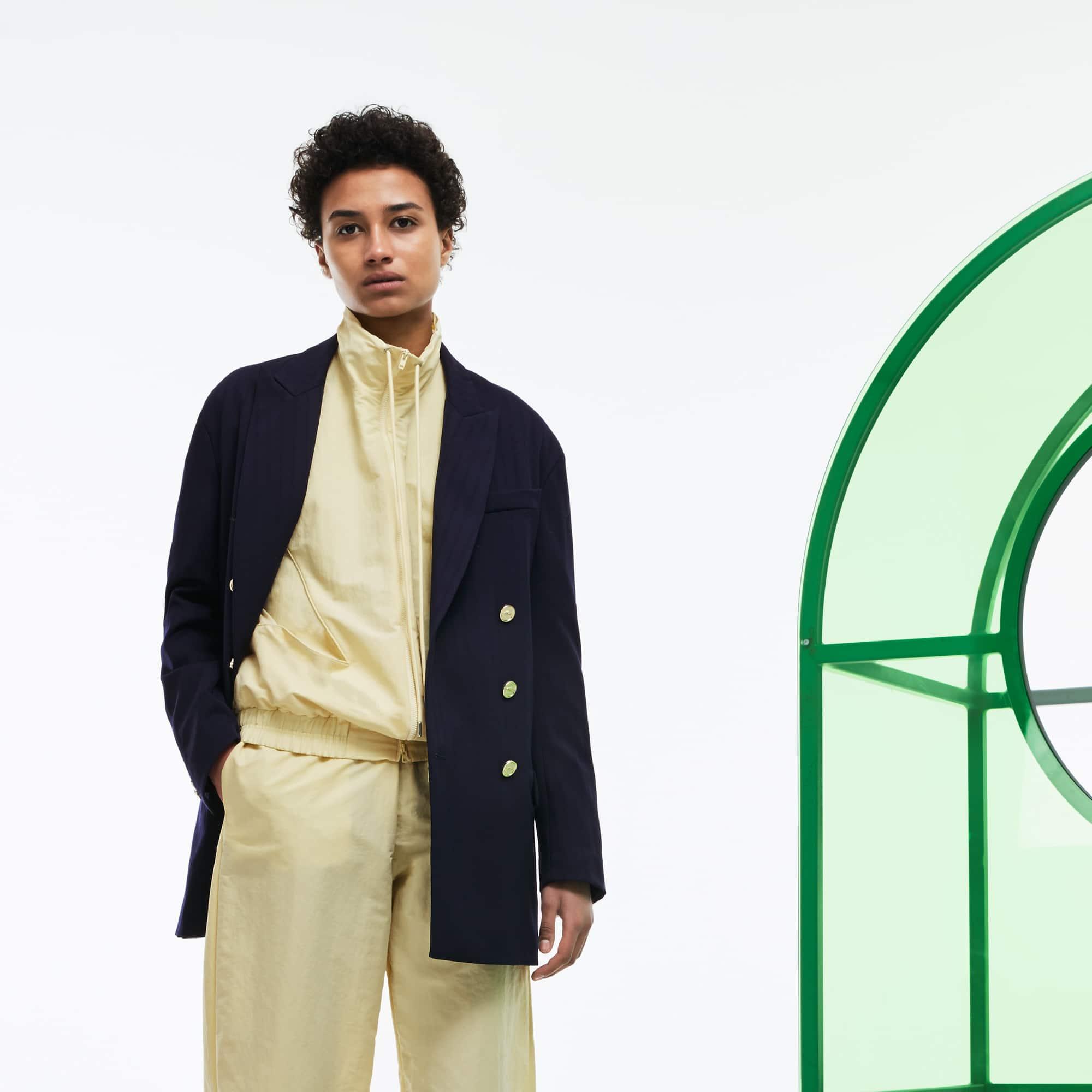 Blazer con doppia abbottonatura in tela di lana stretch Edizione Défilé