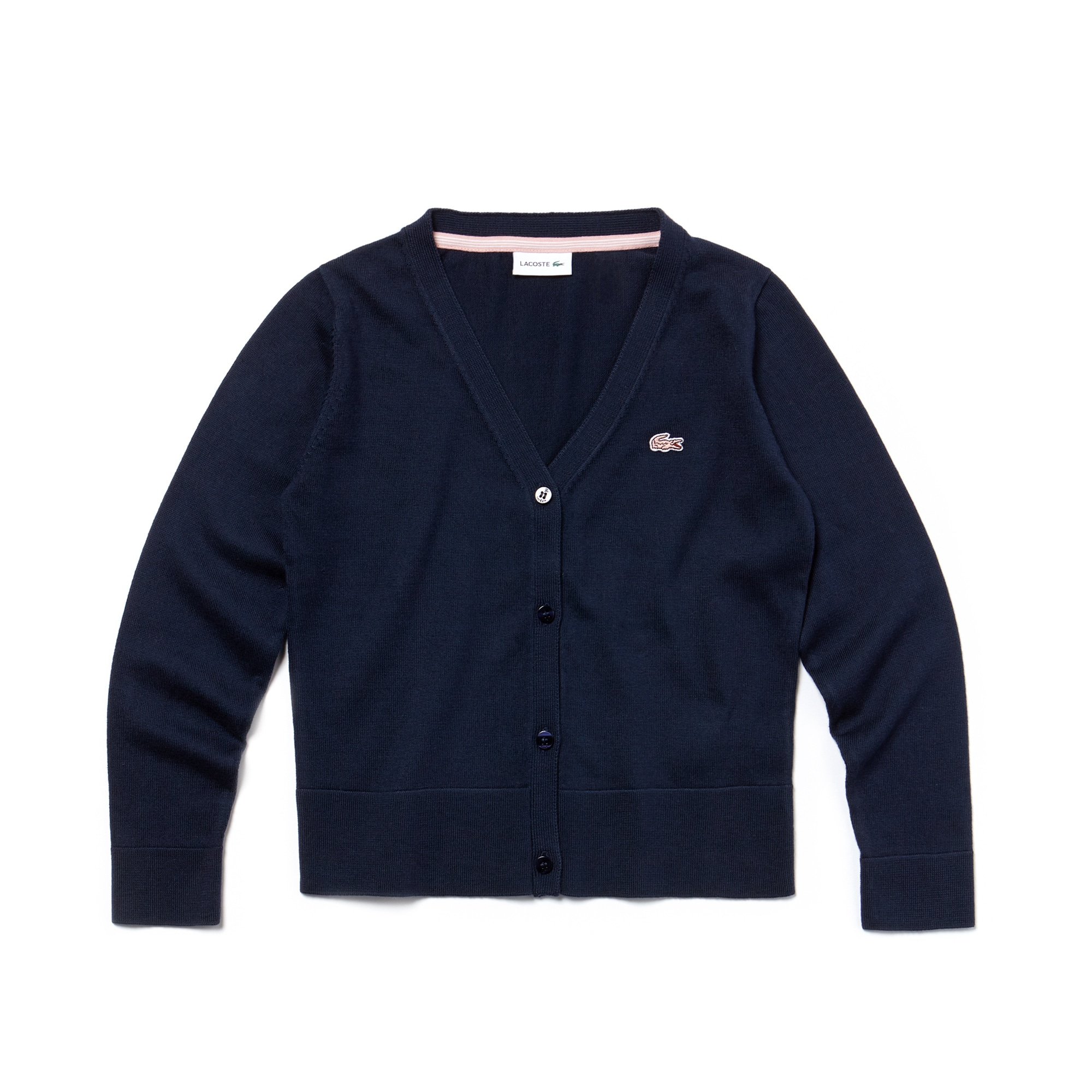 Cardigan Bambina in jersey di cotone tinta unita