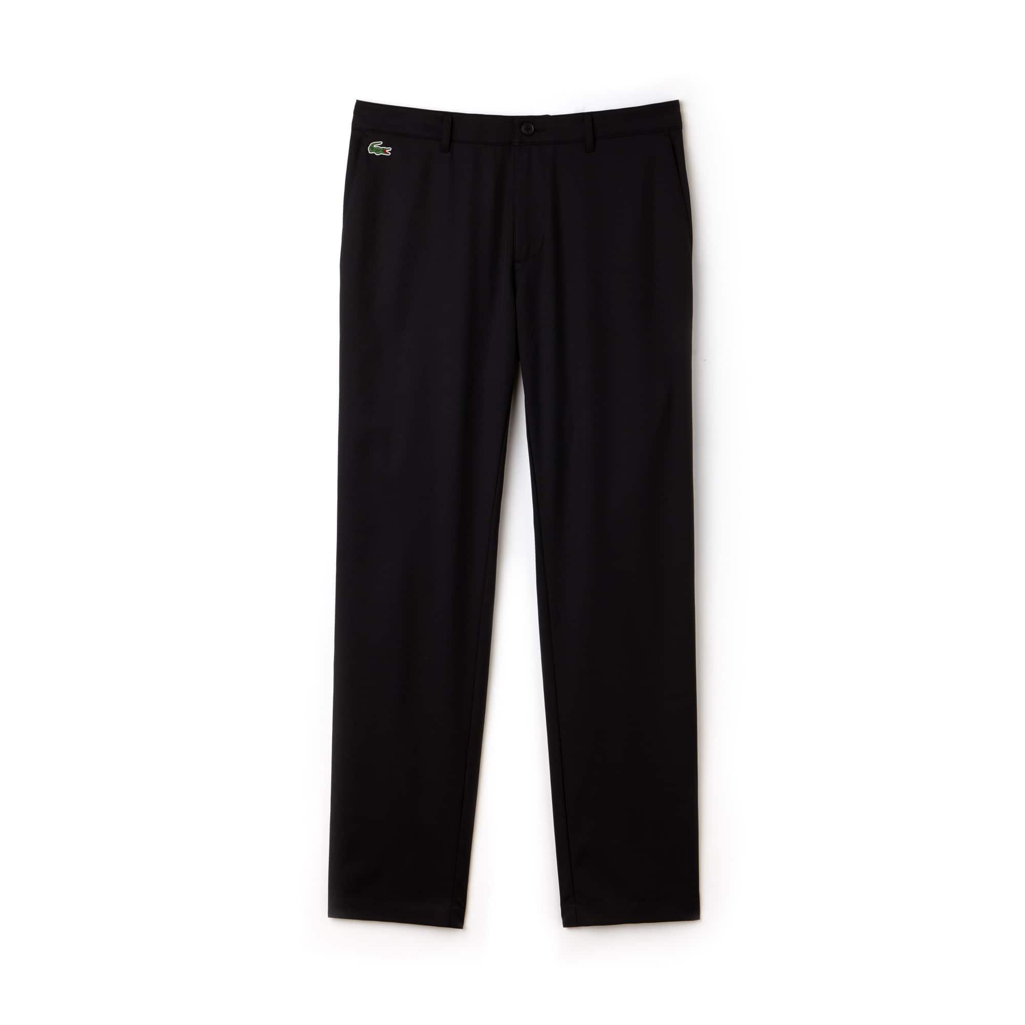 Pantaloni chino Golf Lacoste SPORT in gabardina tecnica tinta unita