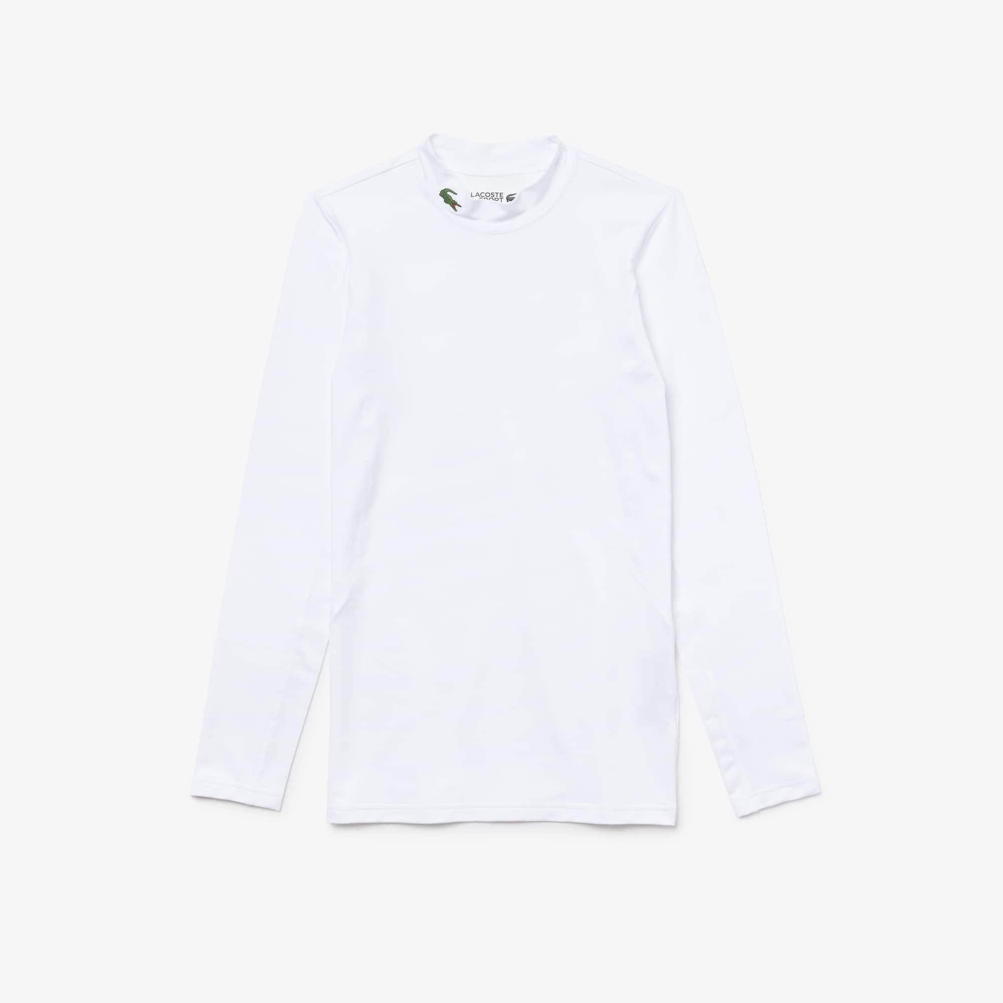 T-shirt con collo alto a maniche lunghe Golf Lacoste SPORT in jersey tecnico