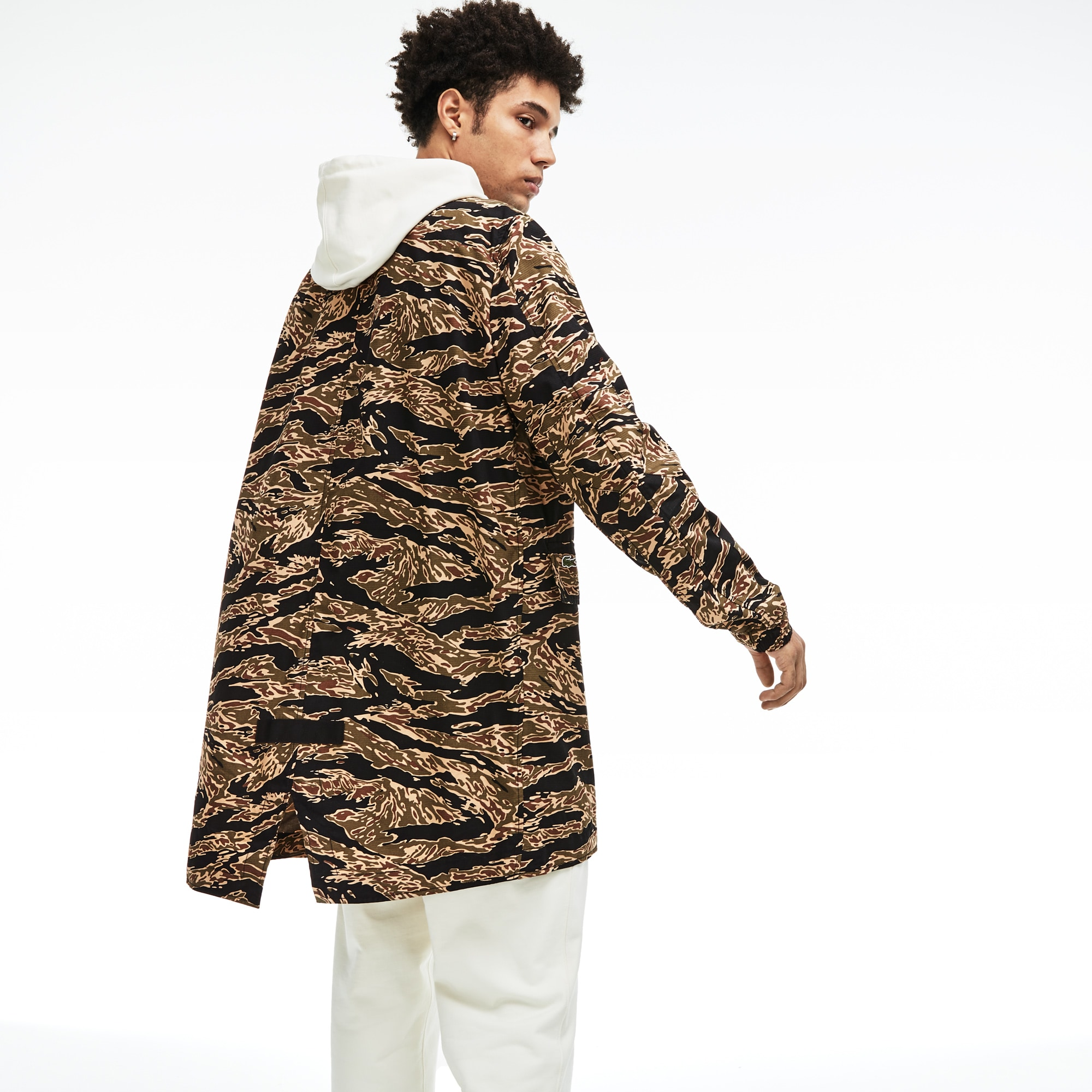 Parka unisex con stampa camouflage Lacoste LIVE