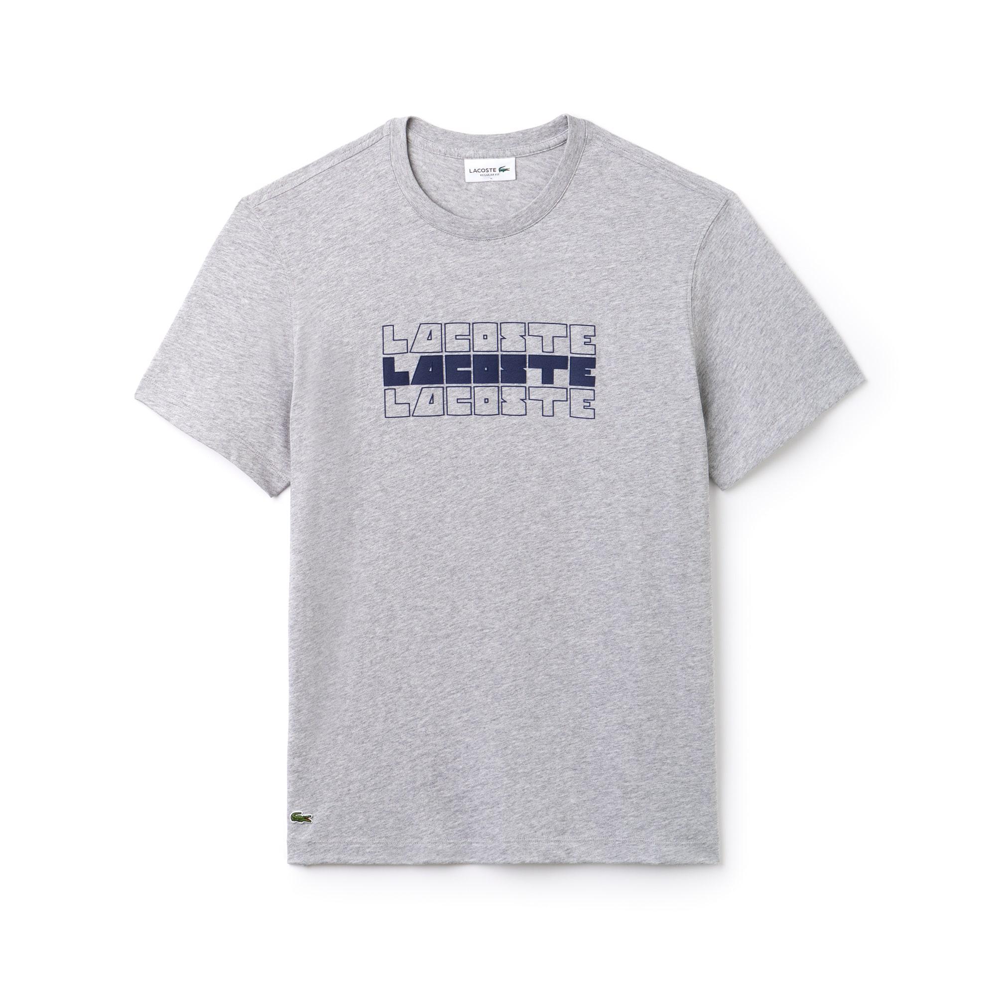 Shirt Girocollo Lacoste Con Cotone In Jersey Di A T Marchio dFxqwSpp 5151888baeb6