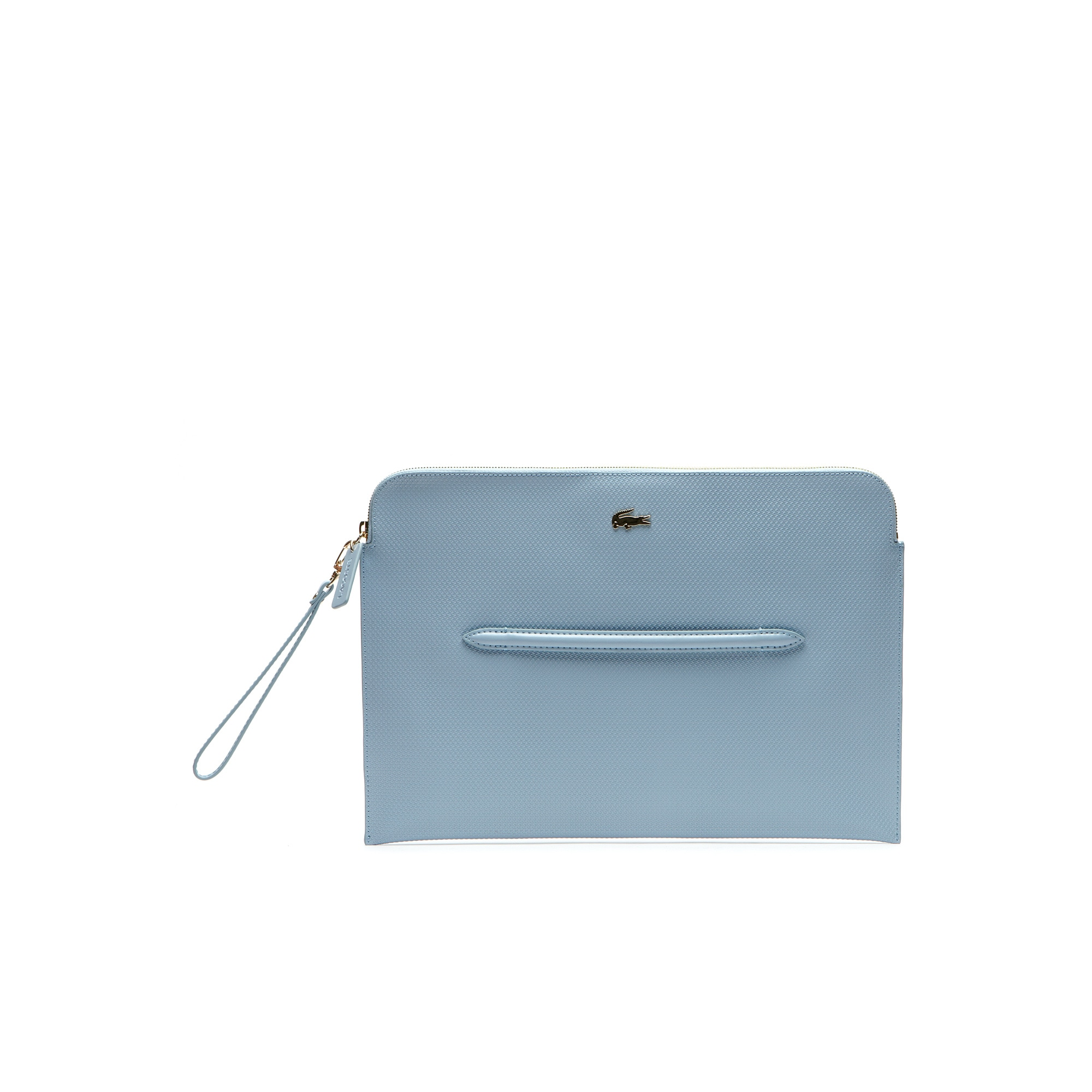 Chantaco zippered clutch in coated leather