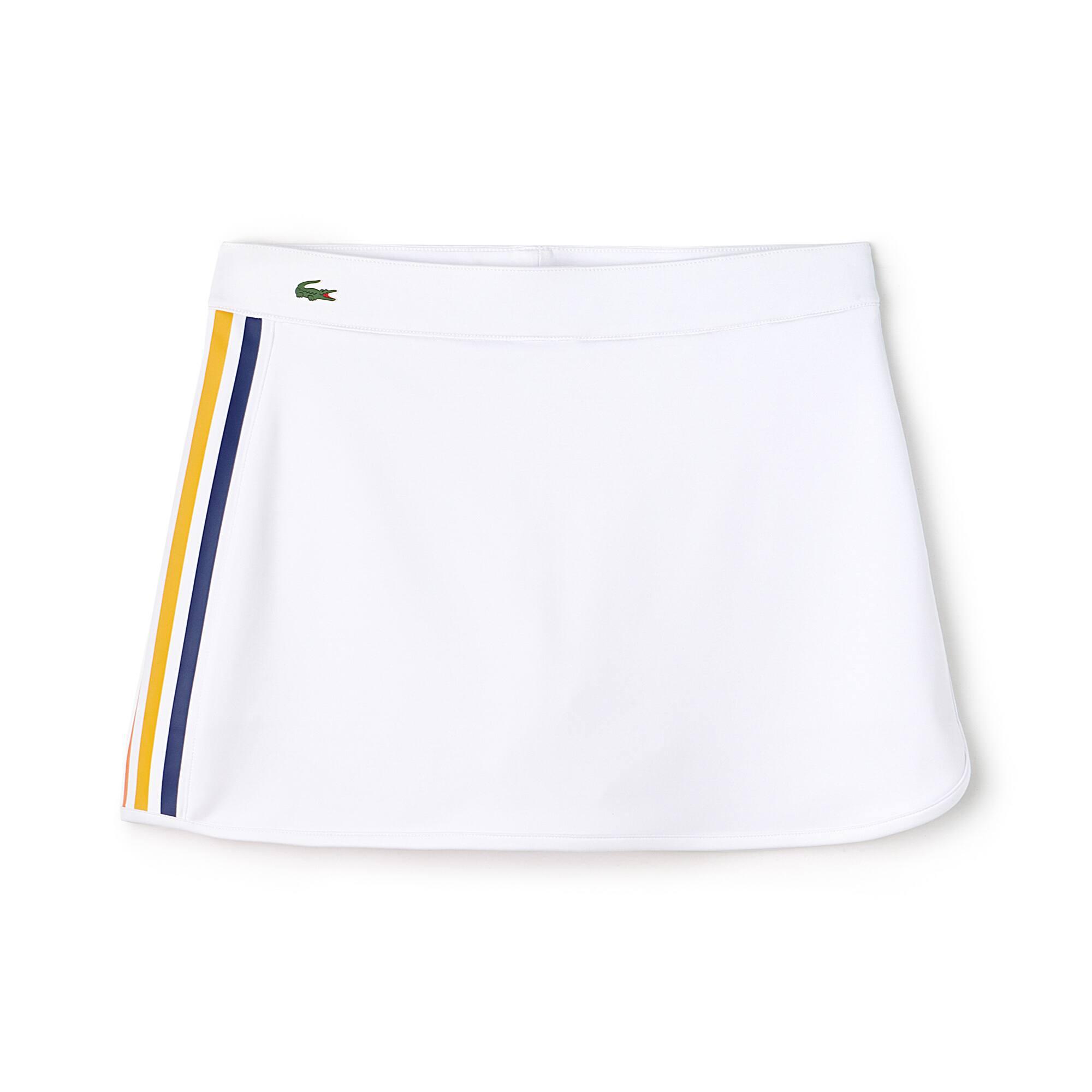 Gonna Tennis Lacoste SPORT in jersey tecnico con fasce a contrasto