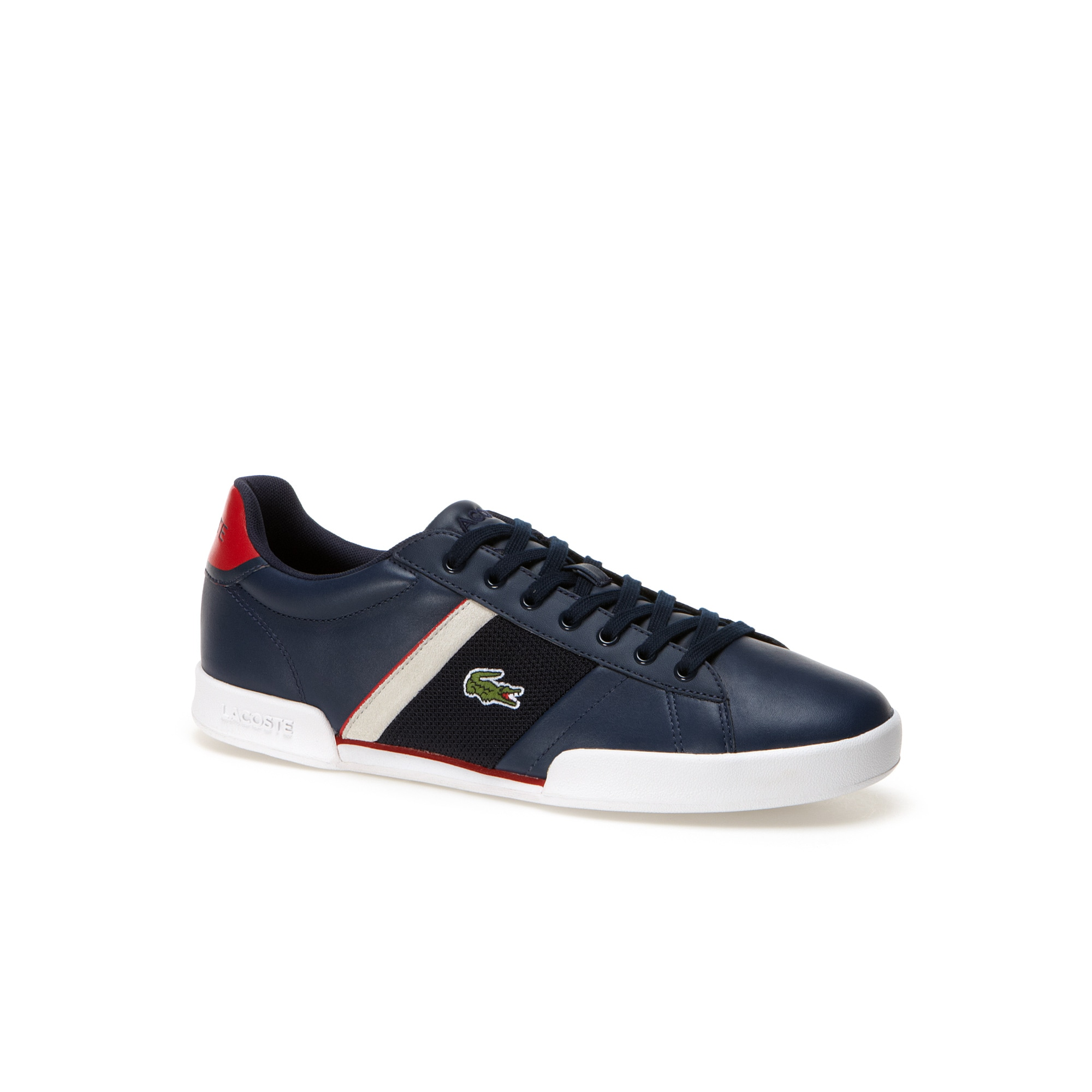 Deston low-rise sneakers in leather with mesh panels