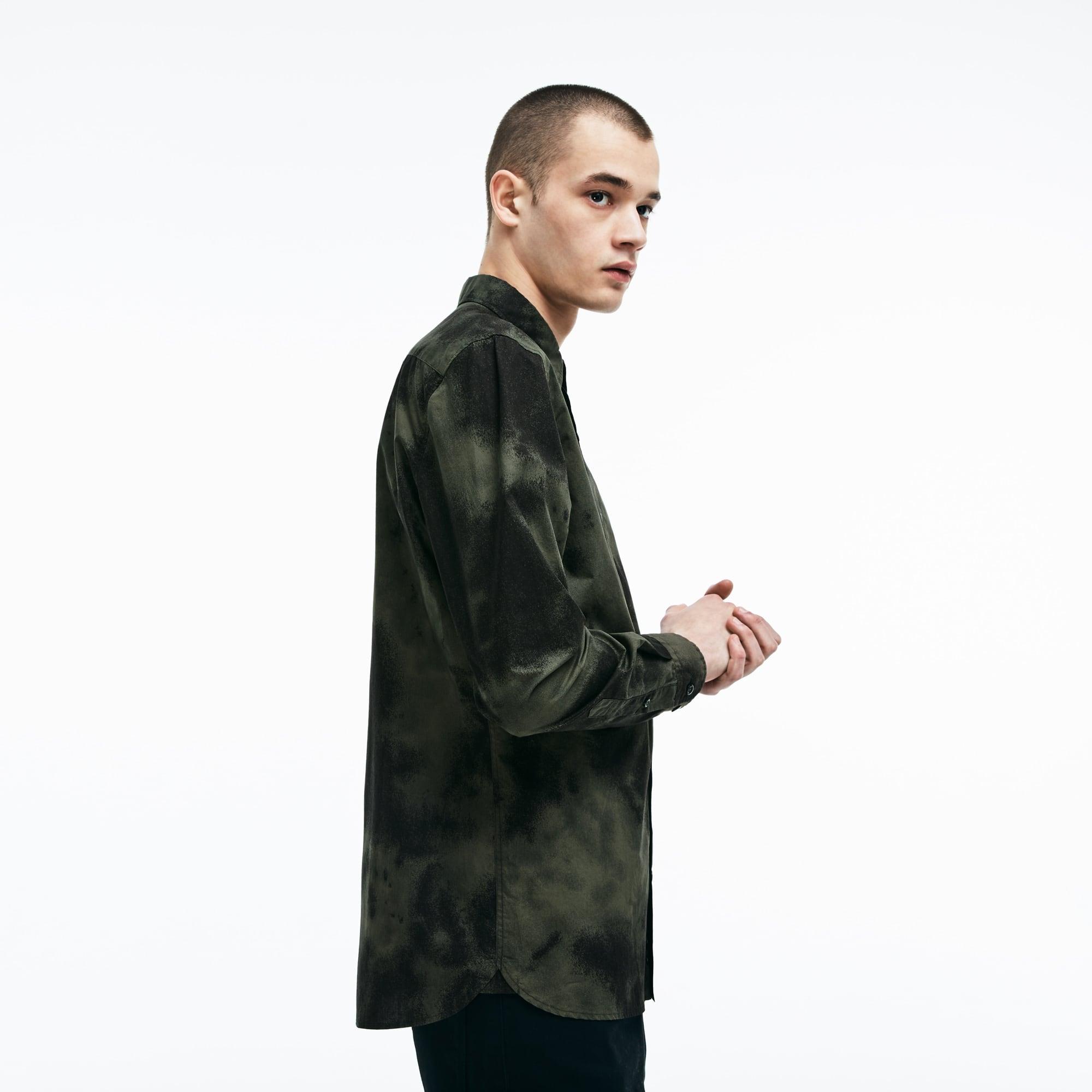Camicia skinny fit Lacoste LIVE in popeline con stampa di nuvole