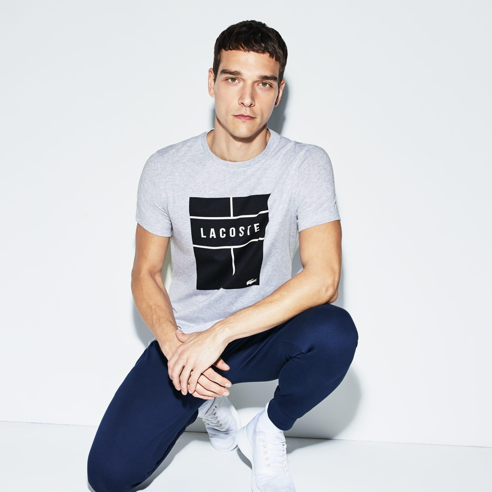 T-shirt a girocollo Tennis Lacoste SPORT in jersey tecnico con marchio