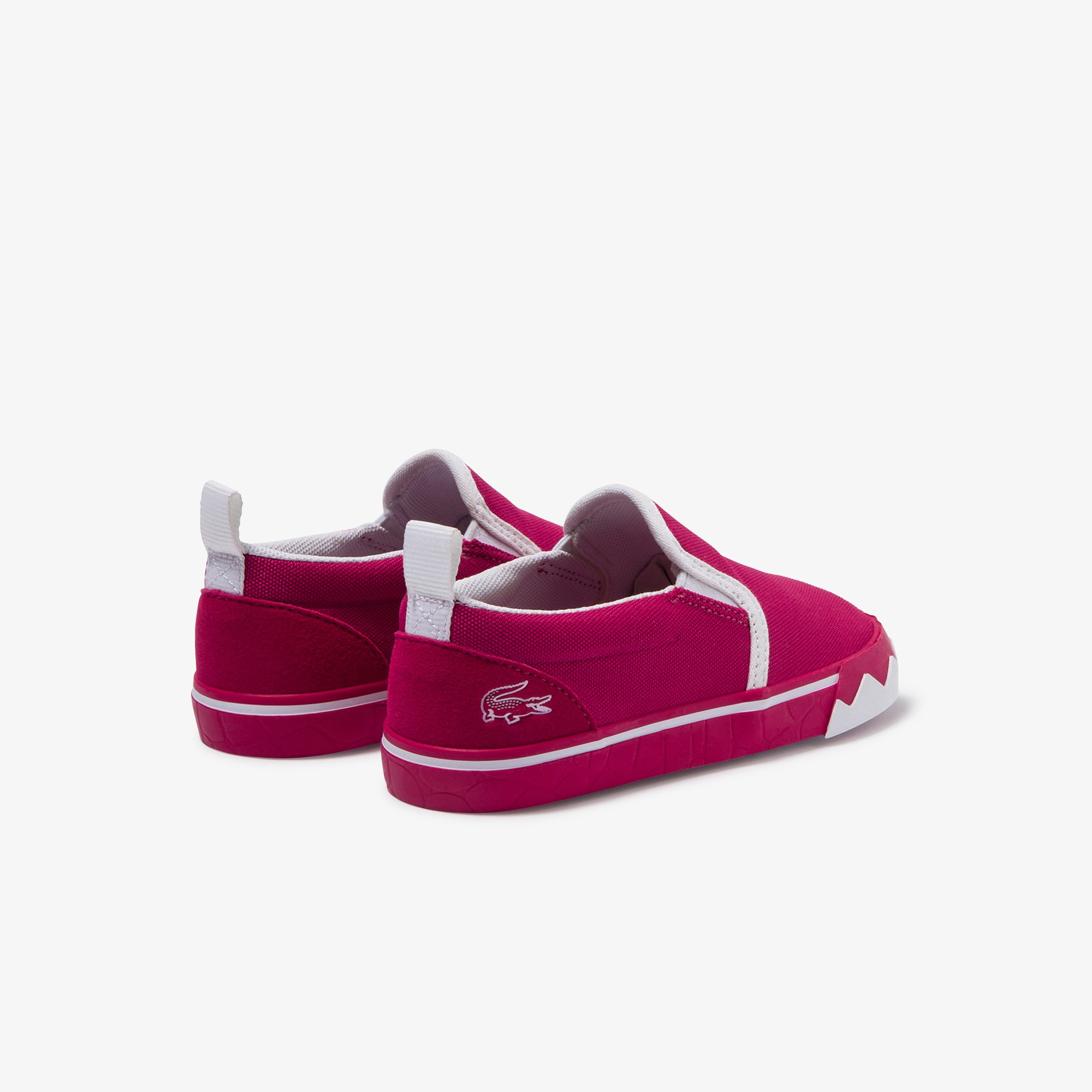 Slip-on da neonato in canvas con colore a contrasto Gazon Croco