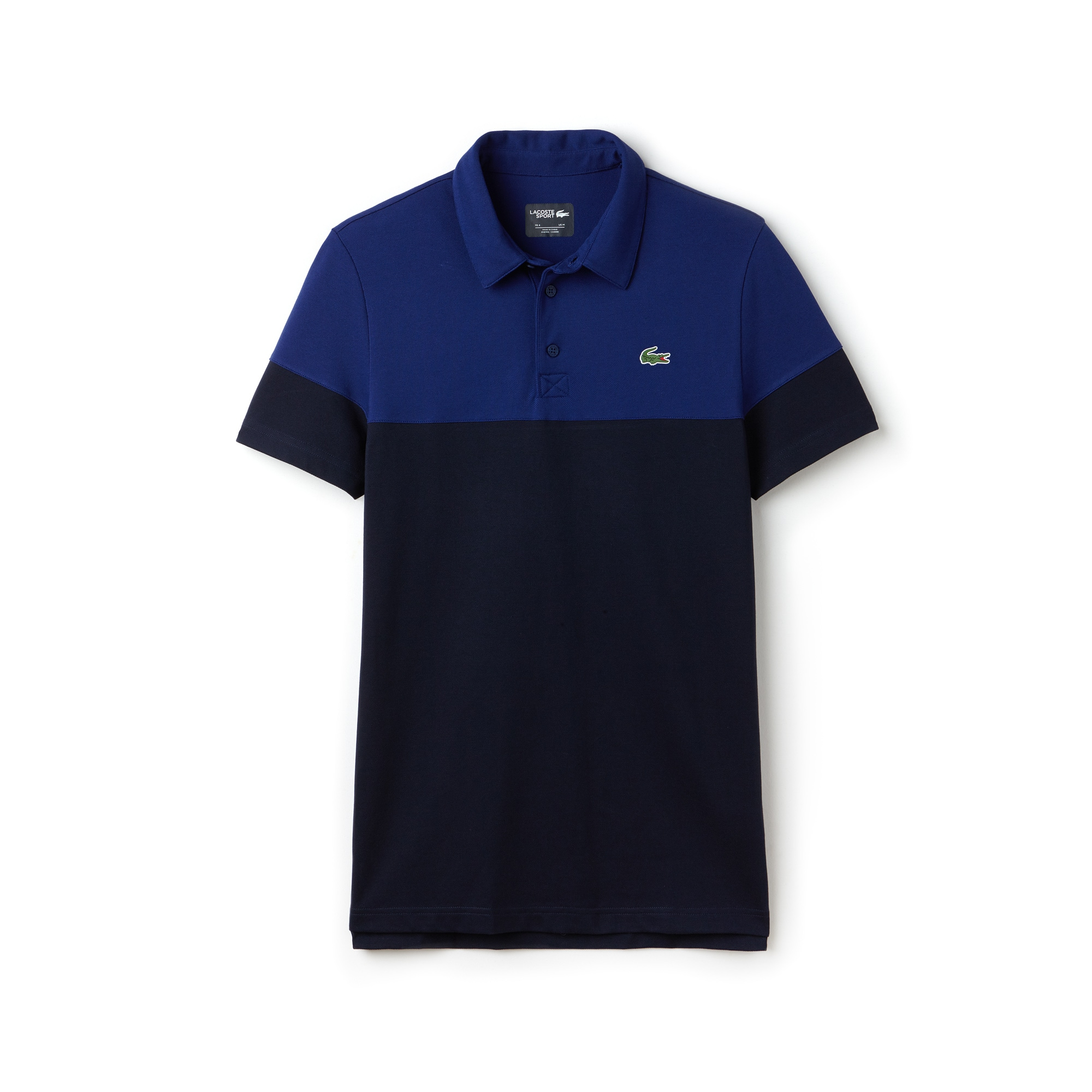 Polo Golf Lacoste SPORT in piqué tecnico color block