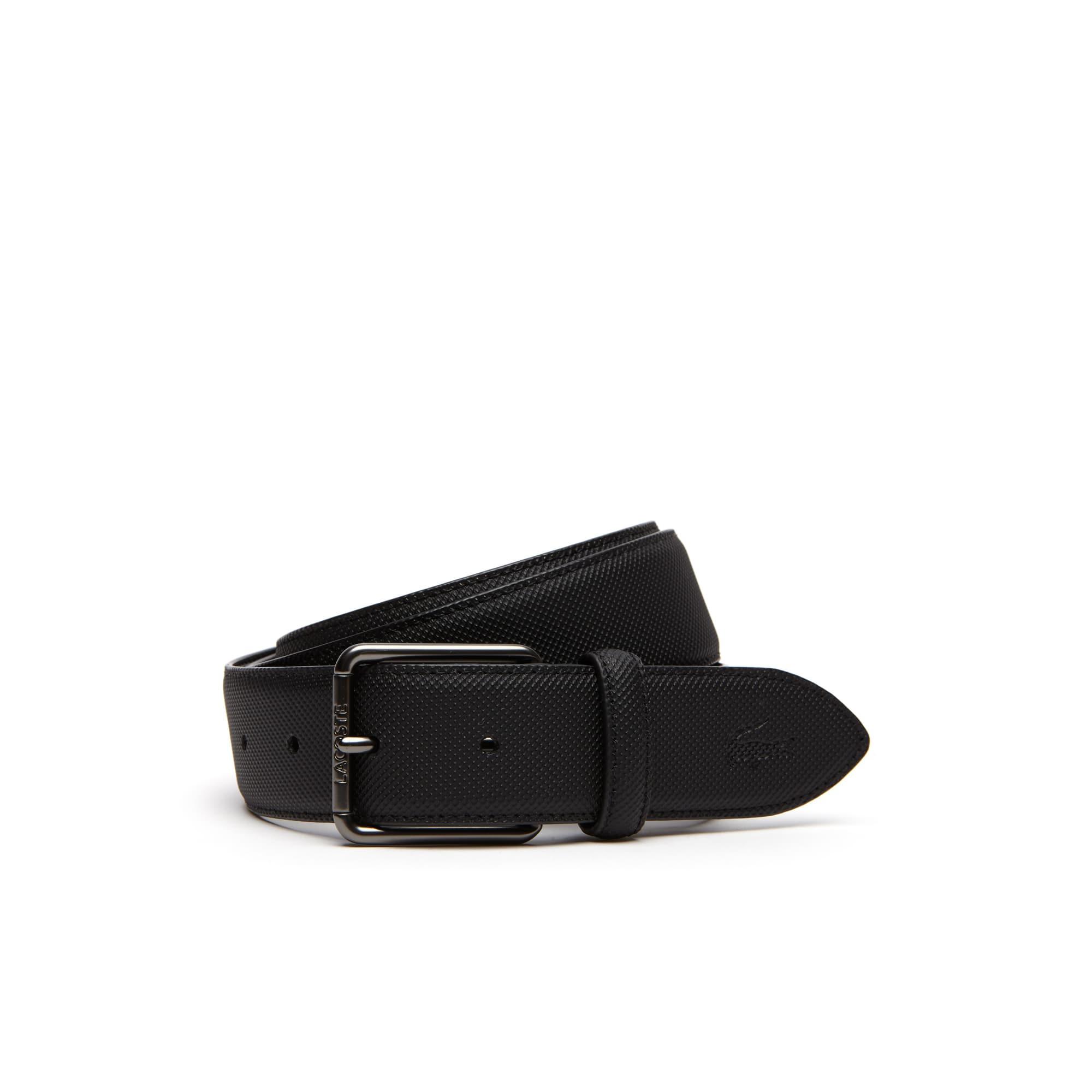 Cintura Men's Classic in petit piqué con fibbia ad ardiglione dotata di incisione Lacoste