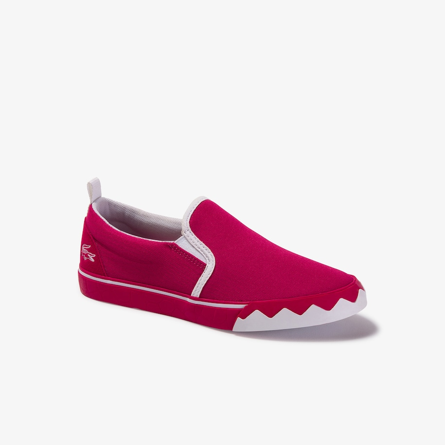 Slip-on da bambino in canvas con colore a contrasto Gazon Croco