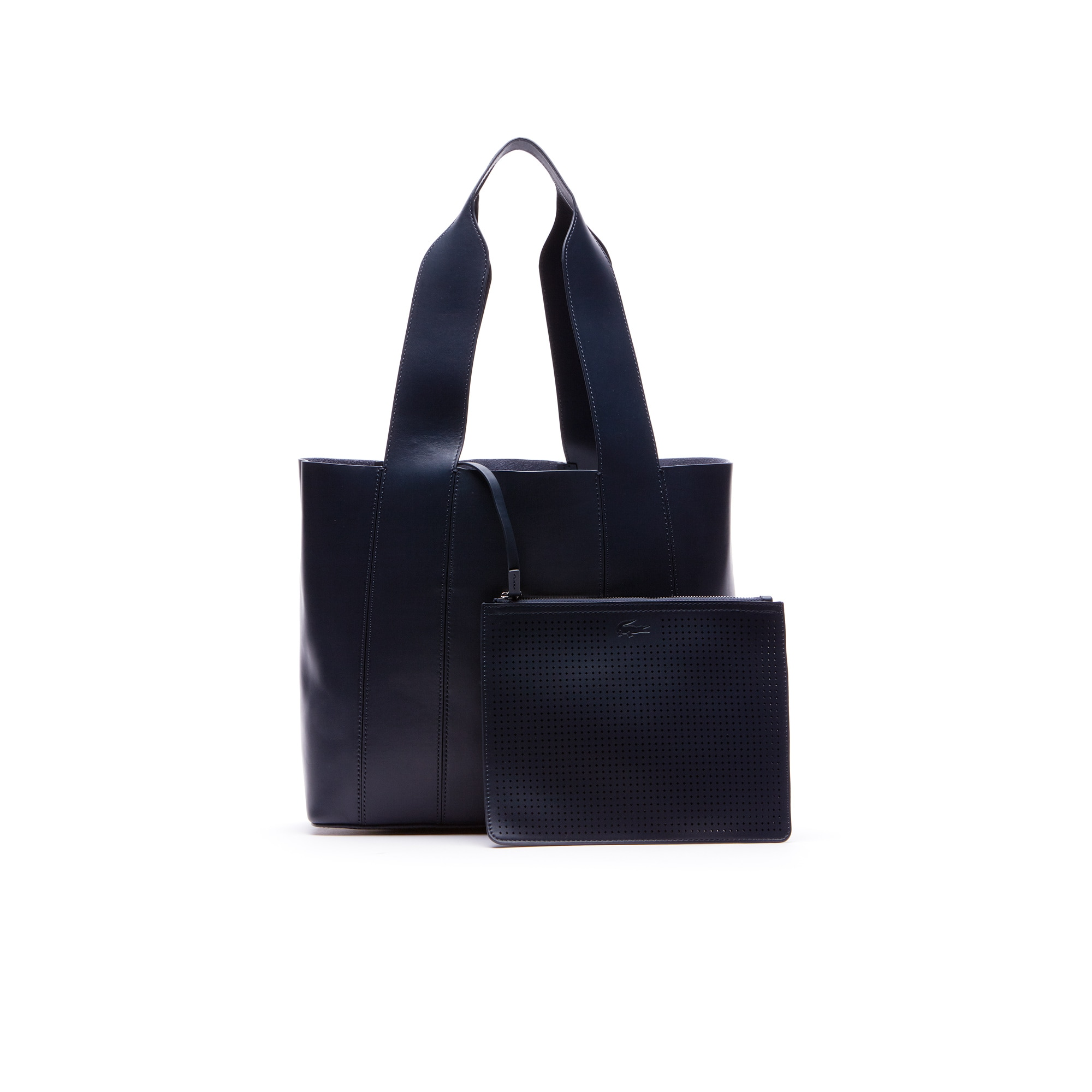 Shopping bag Purity in pelle morbida monocroma