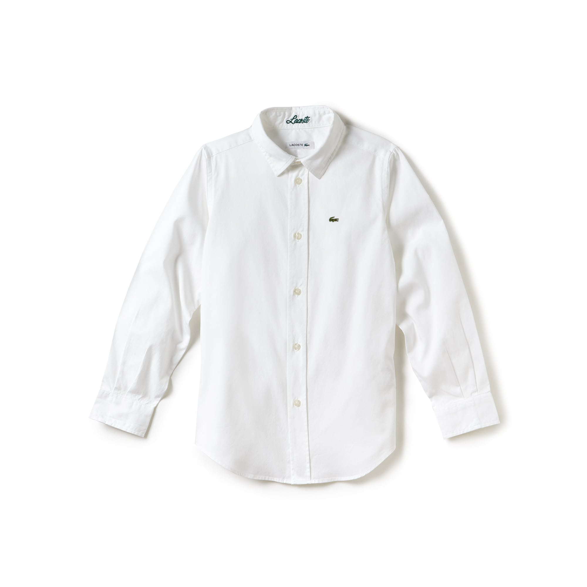 Camicia Kids in cotone Oxford tinta unita