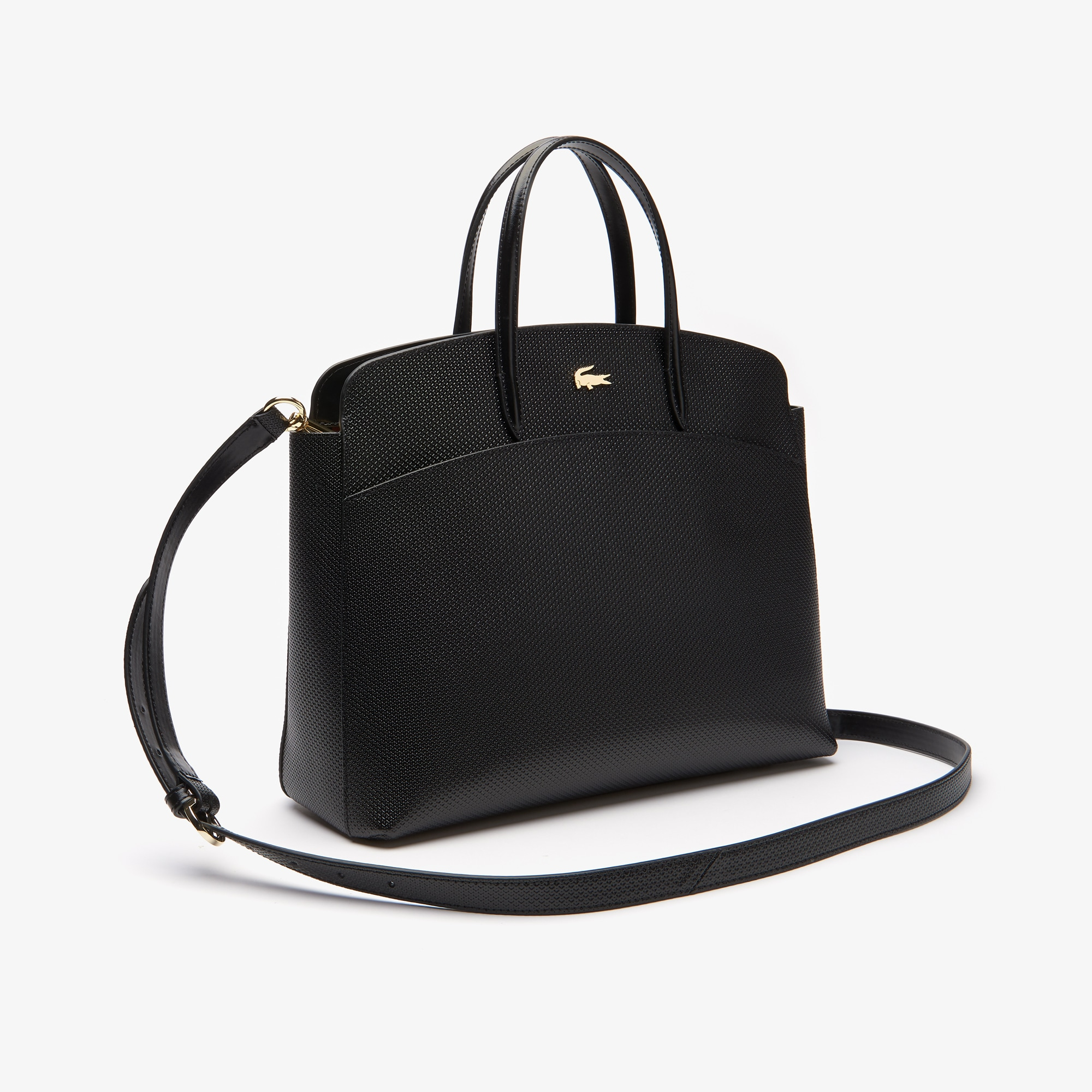 Tote bag con zip Chantaco in pelle piqué da donna