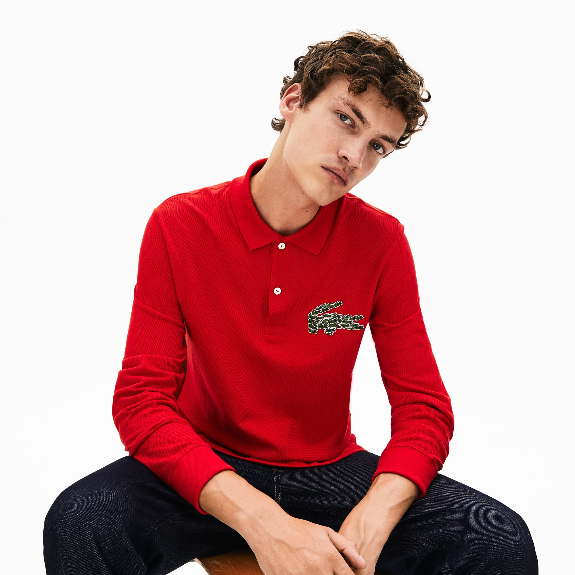 Polo da uomo regular fit con logo multi coccodrillo Lacoste