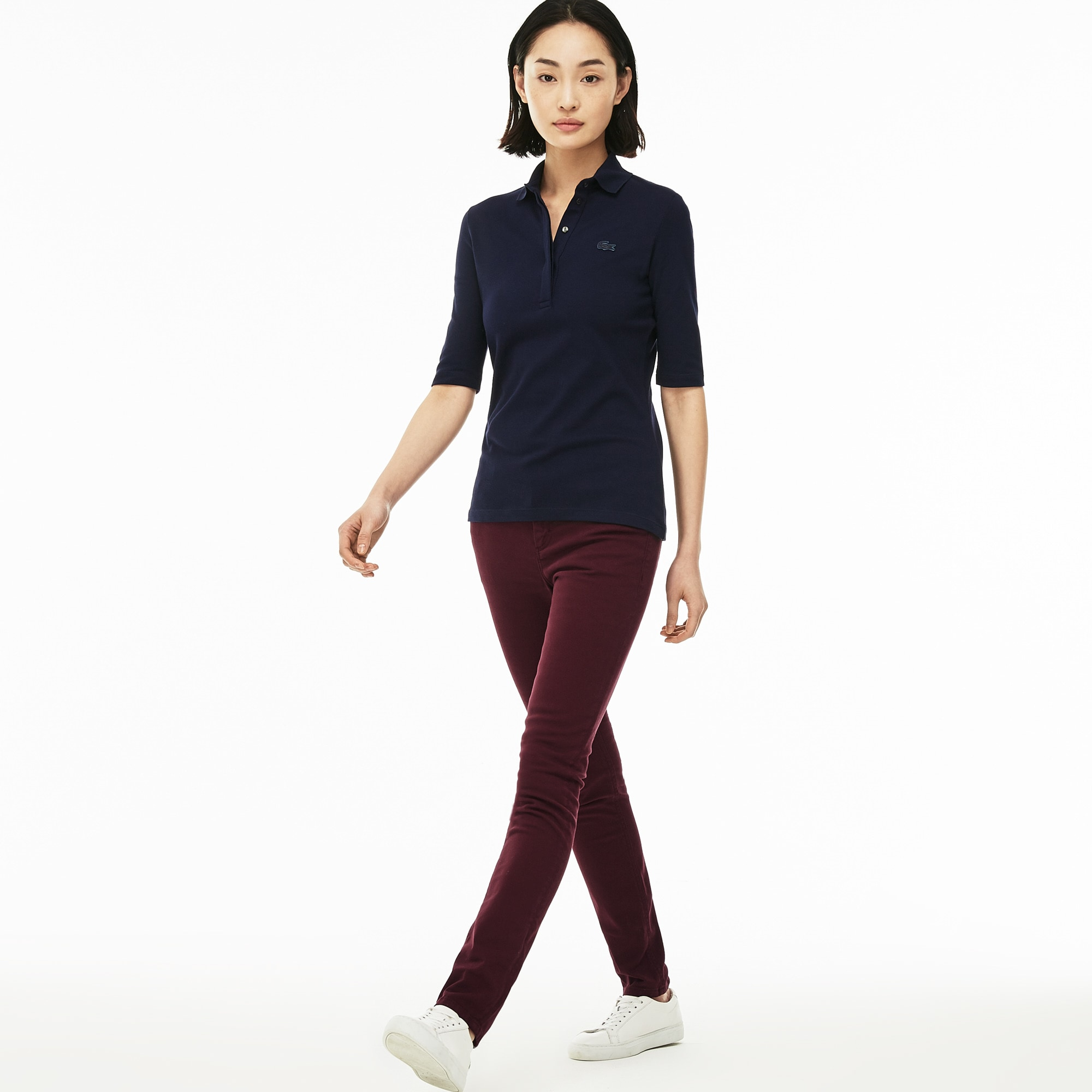 Jeans slim in denim di cotone stretch