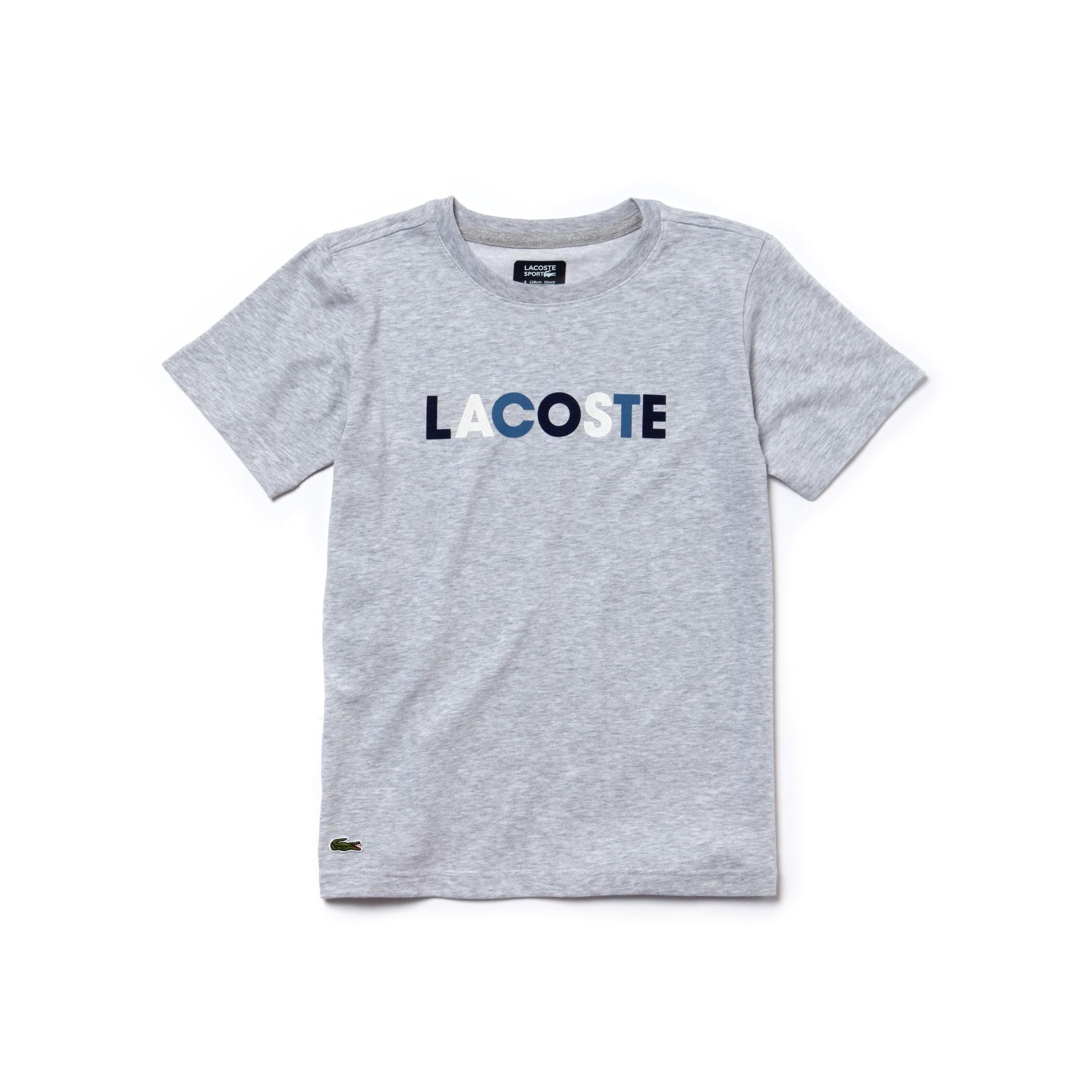 T-shirt Bambino Tennis Lacoste SPORT in jersey tecnico con marchio